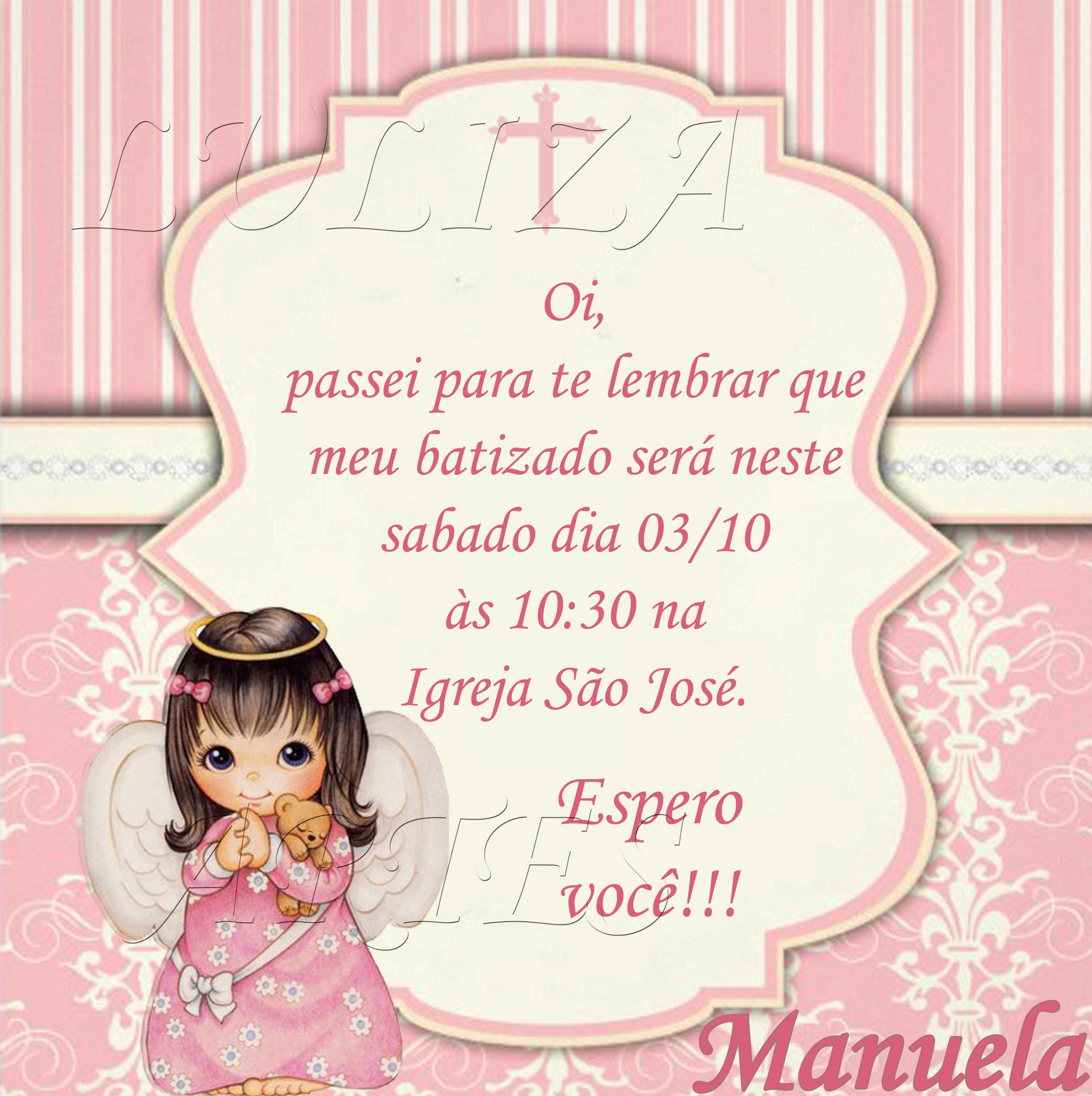Convite Lembrete Elo7