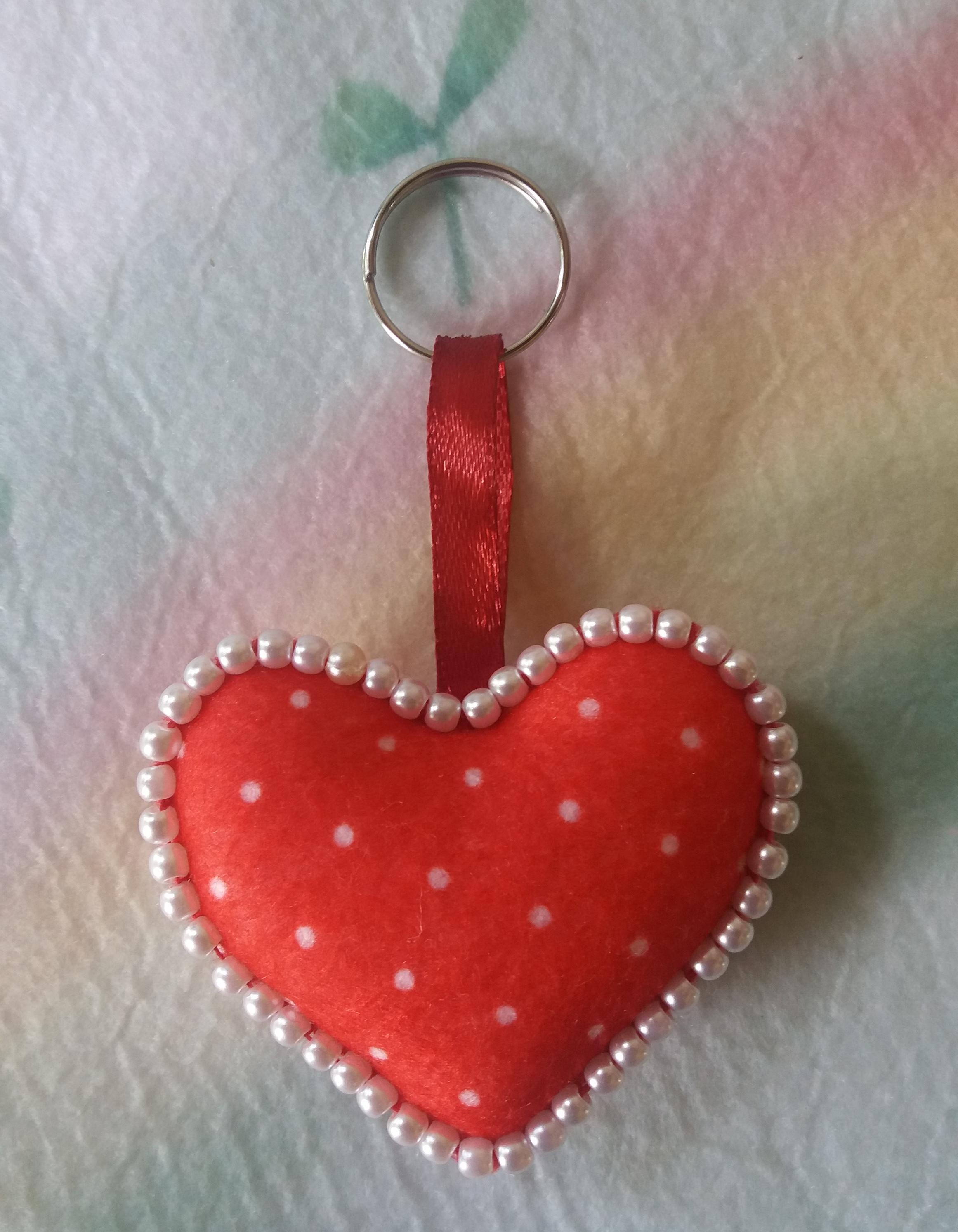 chaveiro coração de feltro no Elo7   Ateliê M&W (6F5D44)