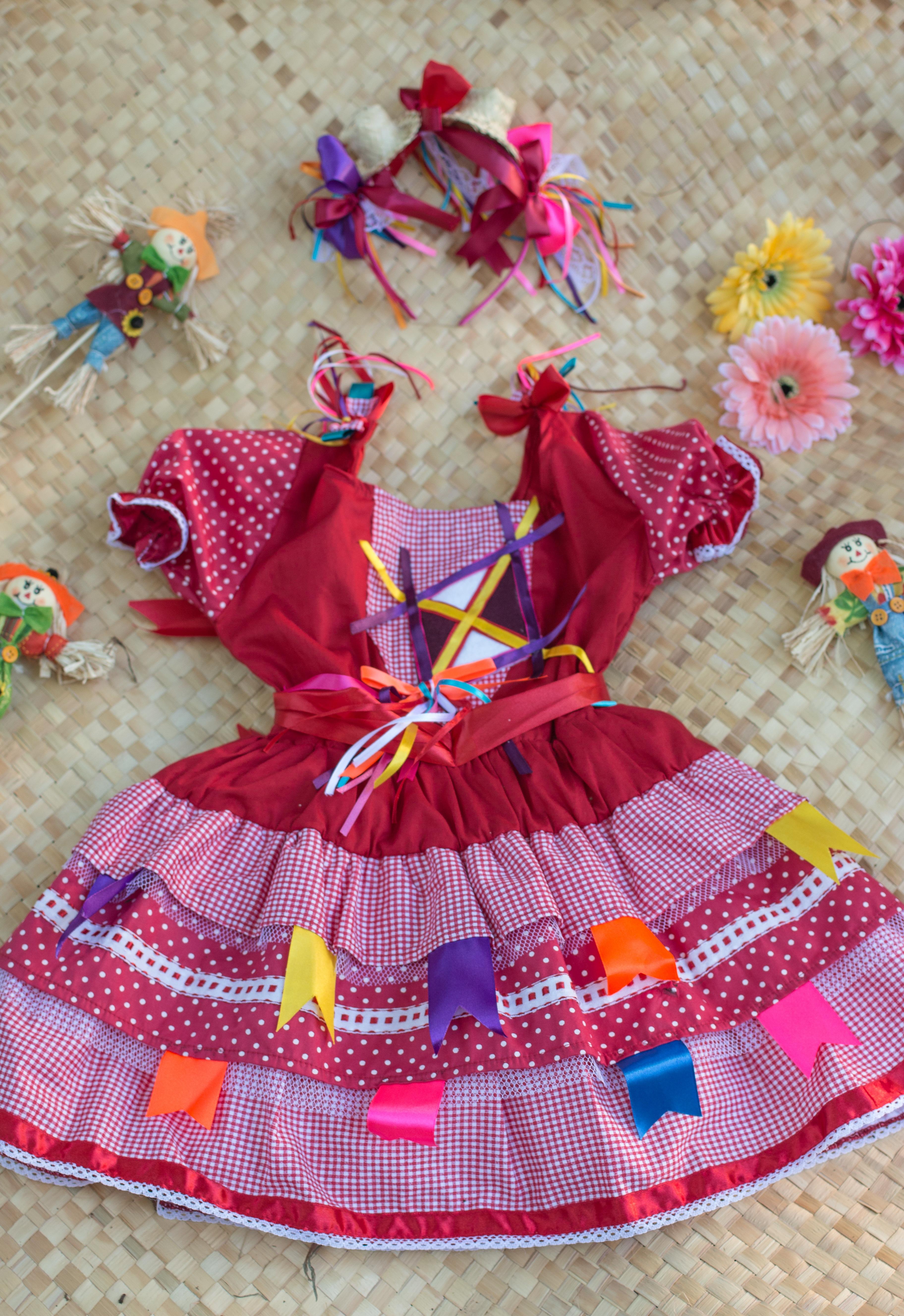 Vestido Infantil Caipira Vermelho