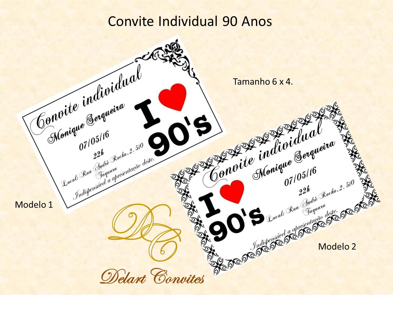 Convites De 90 Anos Elo7
