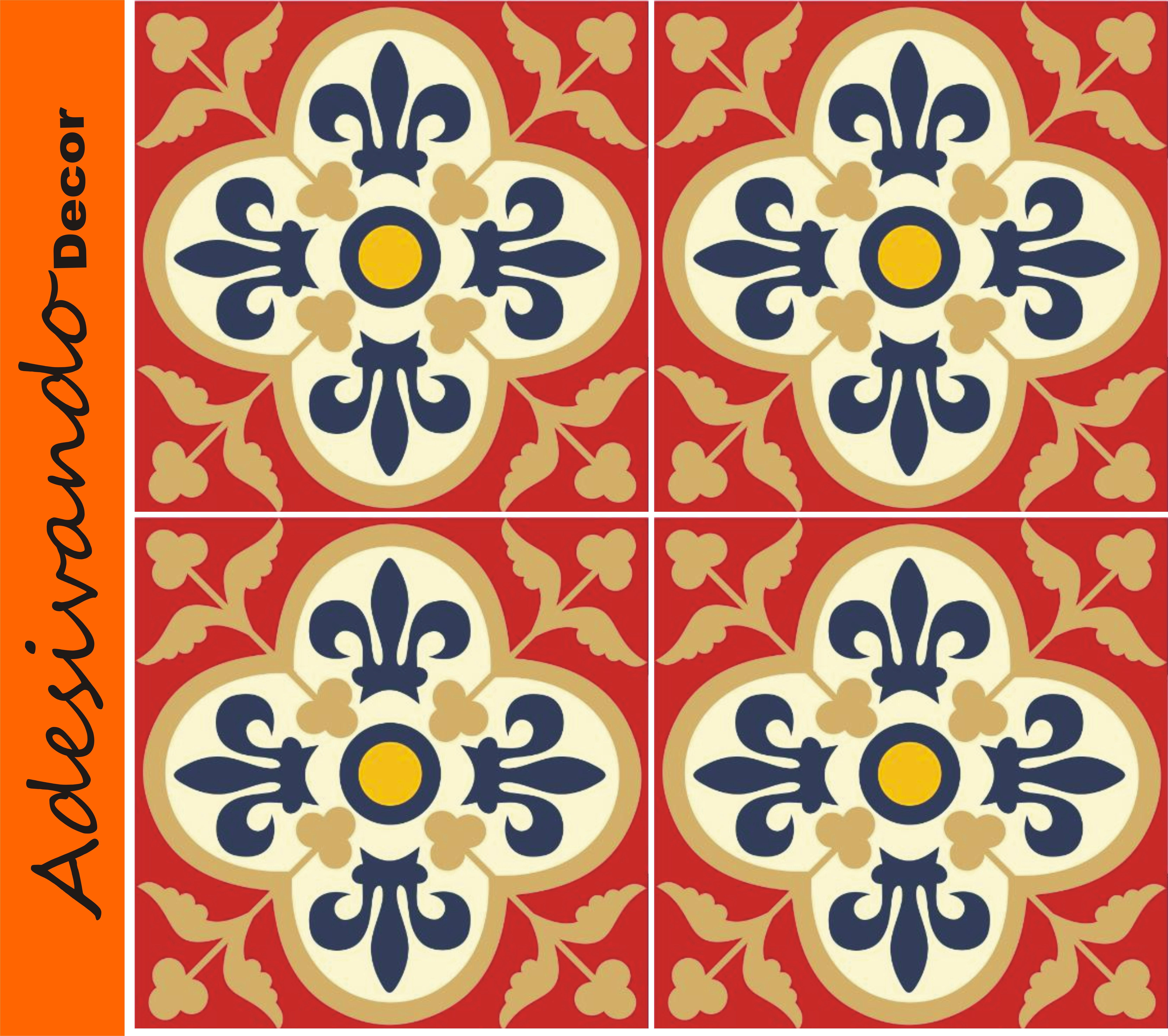 adesivo azulejo portugues 15x15cm adesivo de banheiro adesivo azulejo  #C55006 6644x5895 Banheiro Azulejo Portugues
