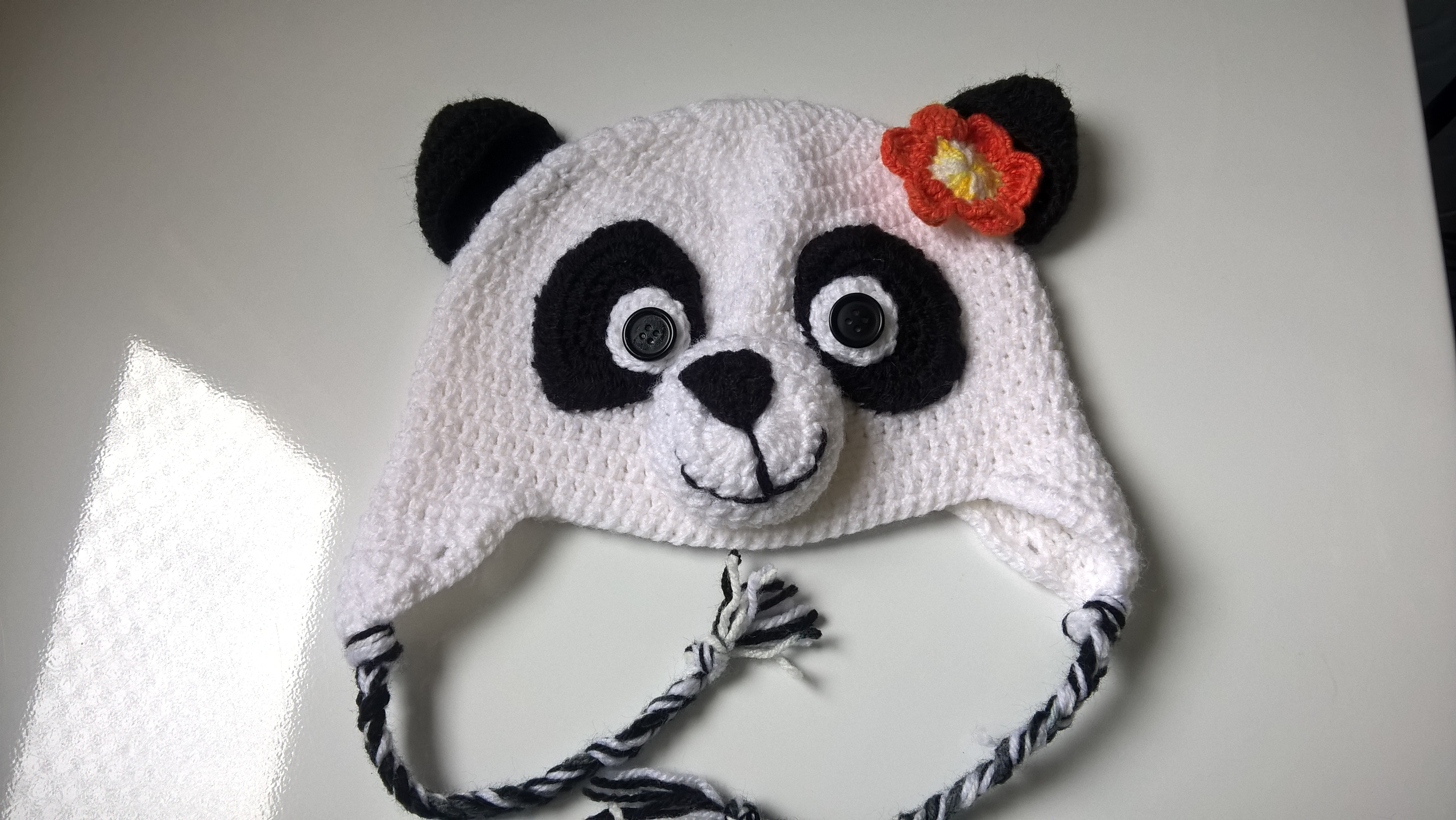 Touca urso panda em crochê no Elo7  9fef53279bf