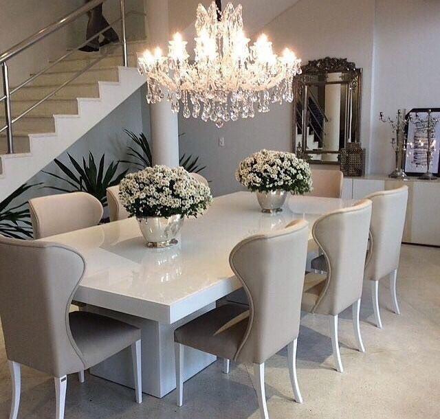 Mesa Jantar De Resina Branca 220X100 Resinatto Design