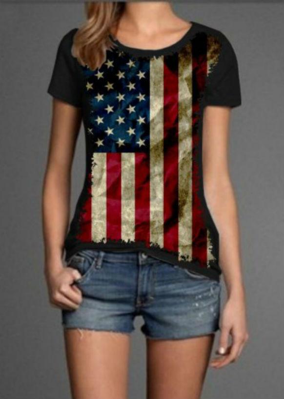 0ee6612571 Blusa Bandeiras Eua e Inglaterra
