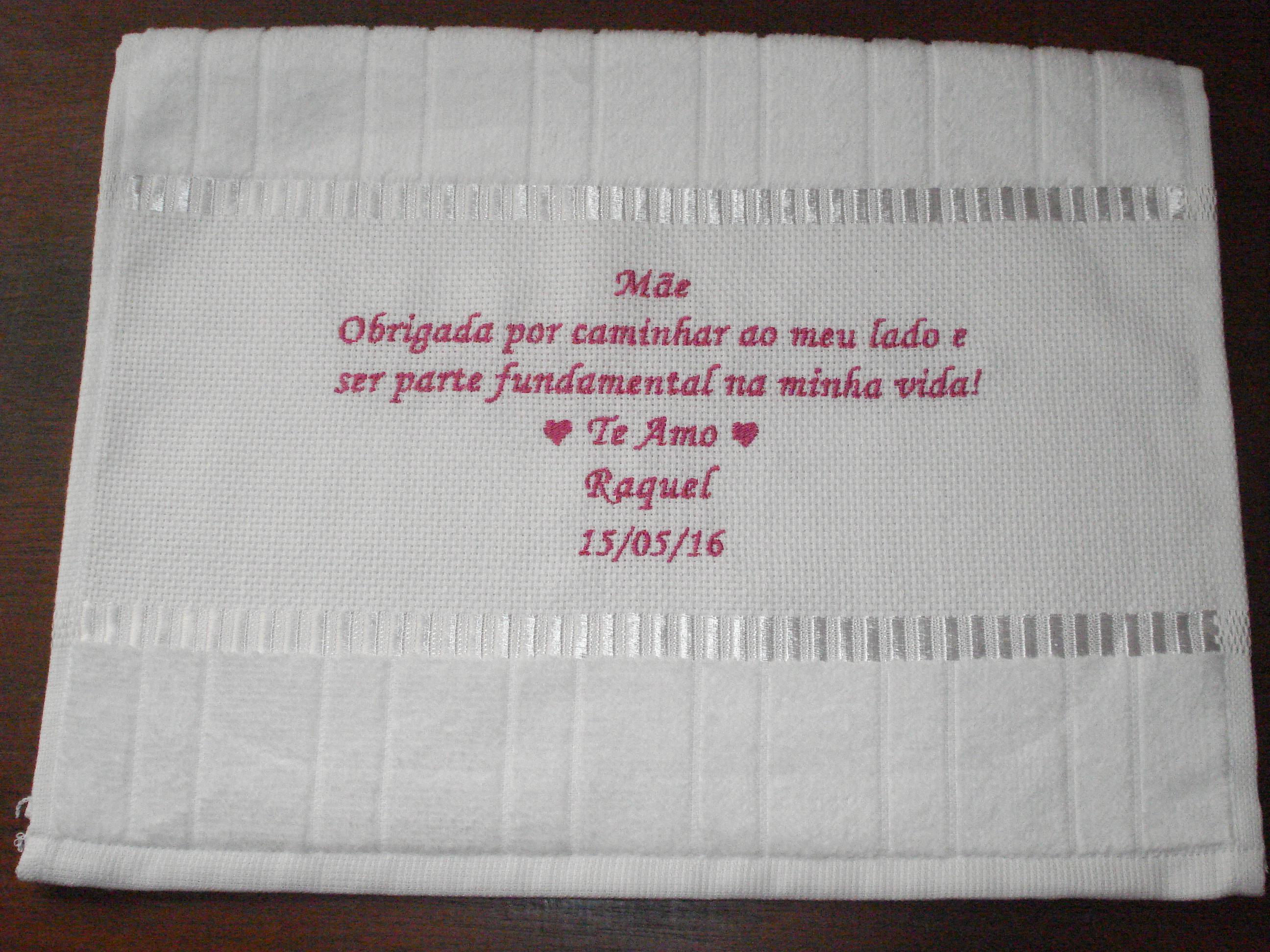Toalha Lembrancinha Casamento Mensagem