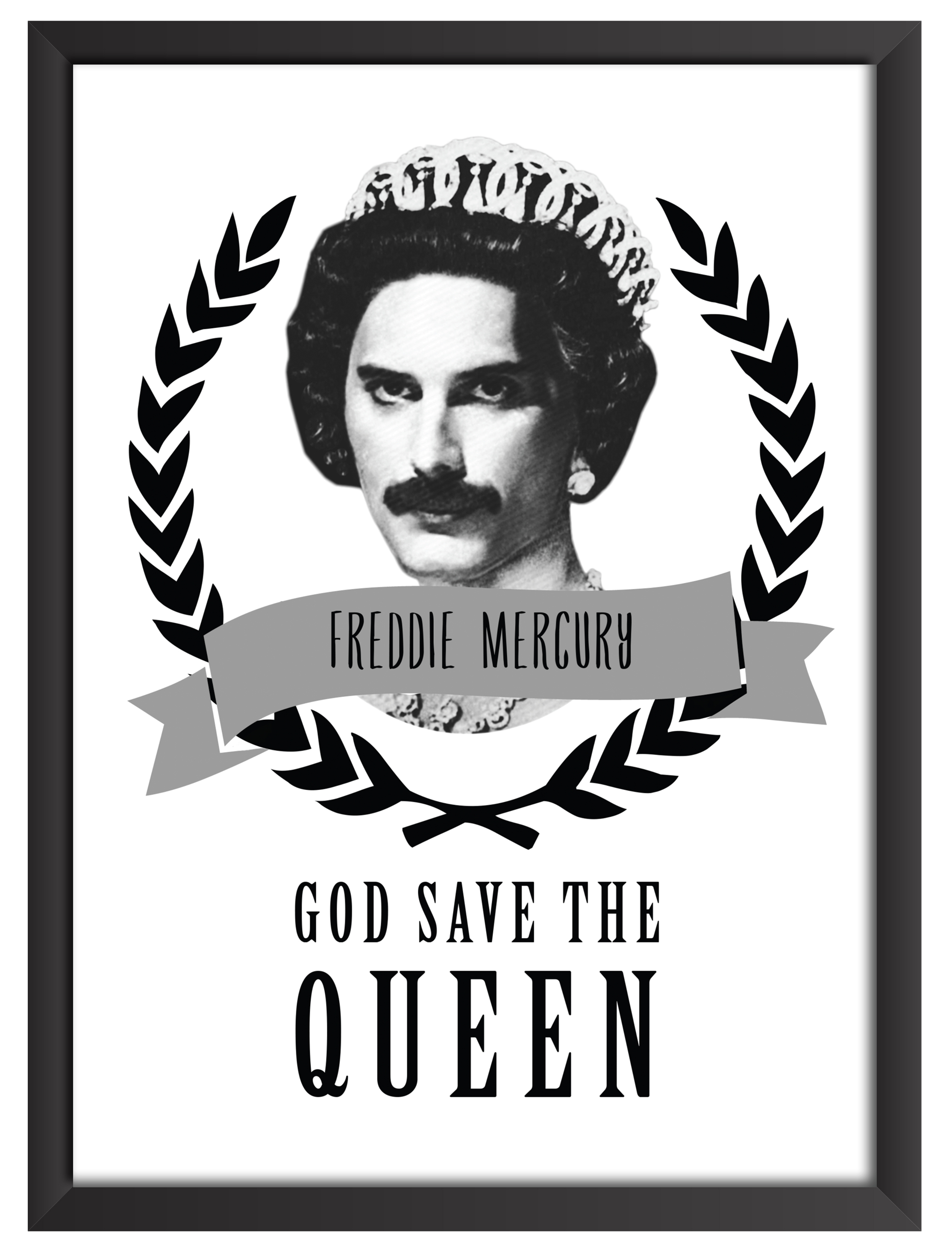 Quadro god save the queen a3 no elo7 zz pop 70206f stopboris Choice Image