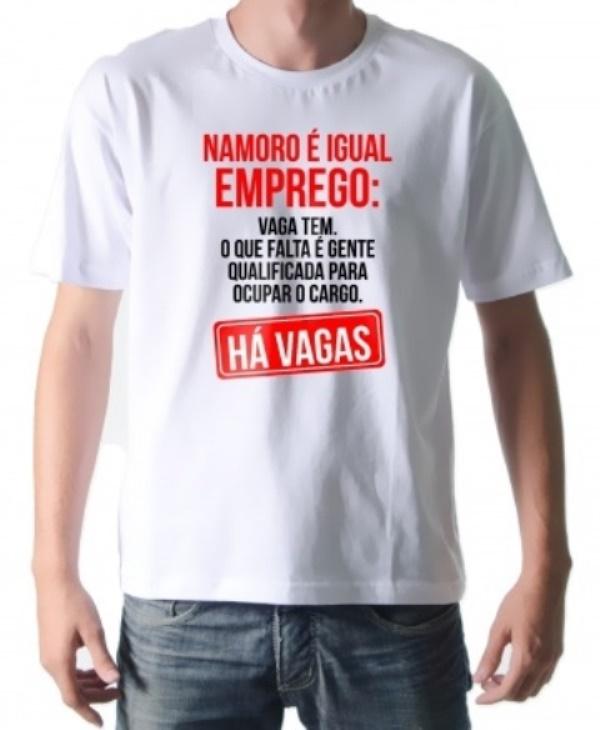 df8d0ebbd Camiseta Personalizada Namoro é Igual .. no Elo7