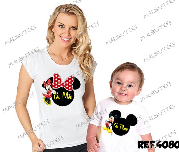 1d7e33b5930500 Tal Mãe Tal Filho Minnie Mickey com 2