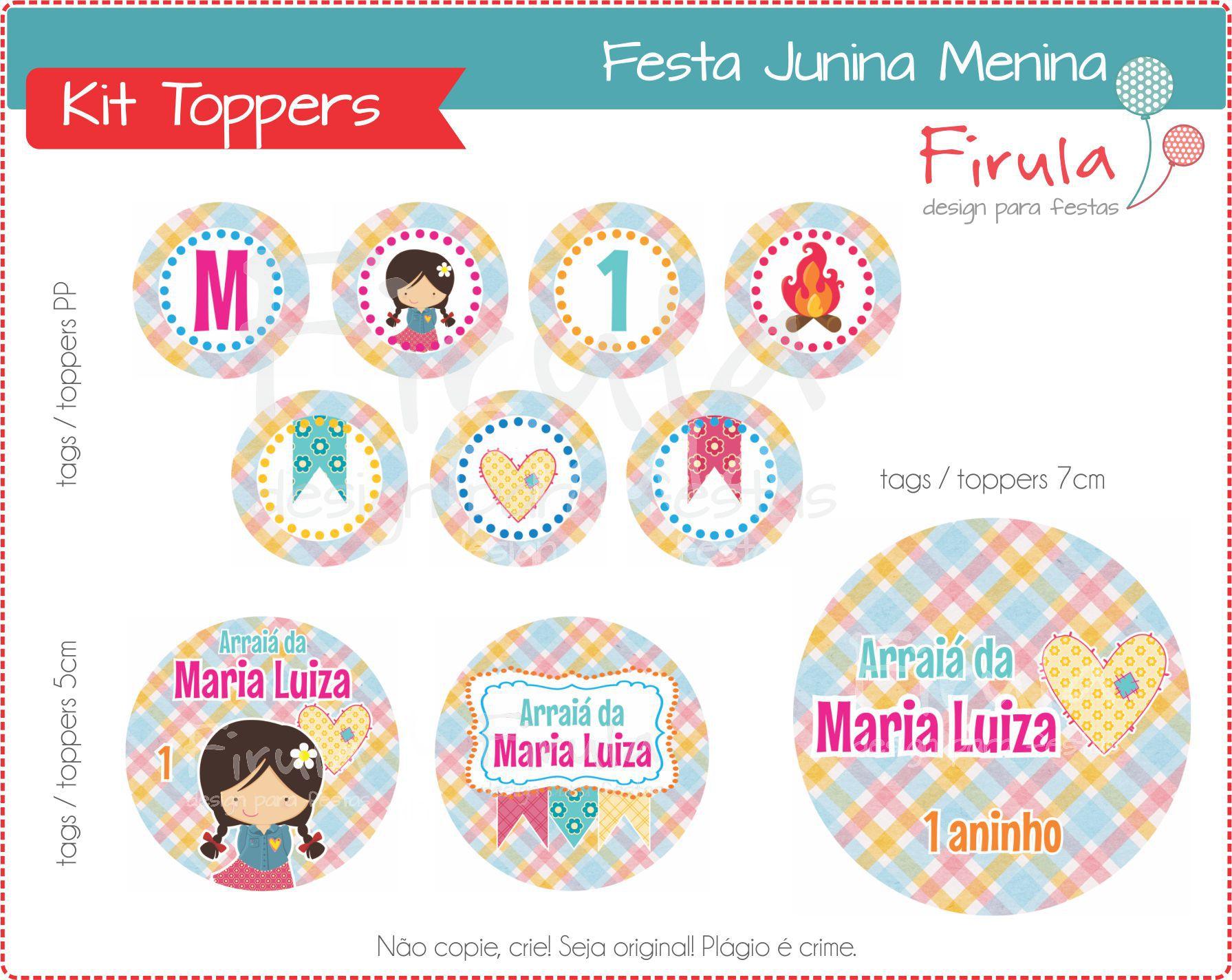 Kit Digital Toppers Festa Junina No Elo7 Firula Festas 6edaaf