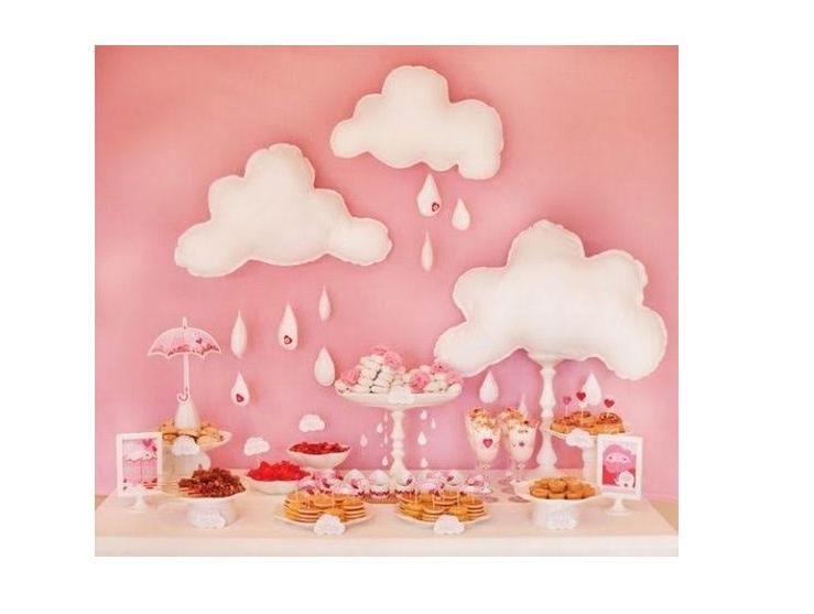 Nuvem Decoraç u00e3o Chá Beb u00ea Quarto Infantil SHOP ART Elo7 -> Decoração Chá De Bebê Nuvem