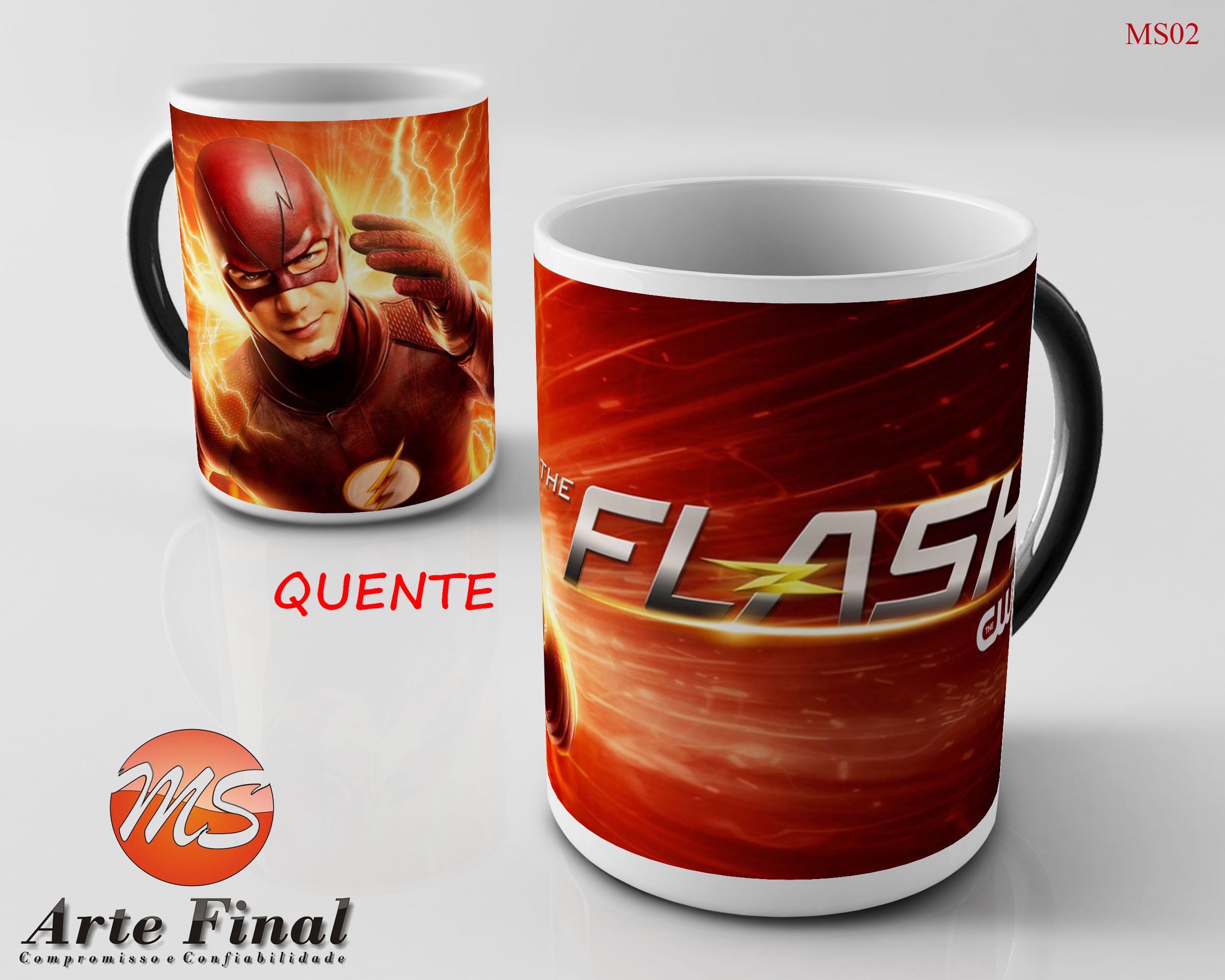 132b48a664 Caneca Ceramica The Flash 02 | Elo7