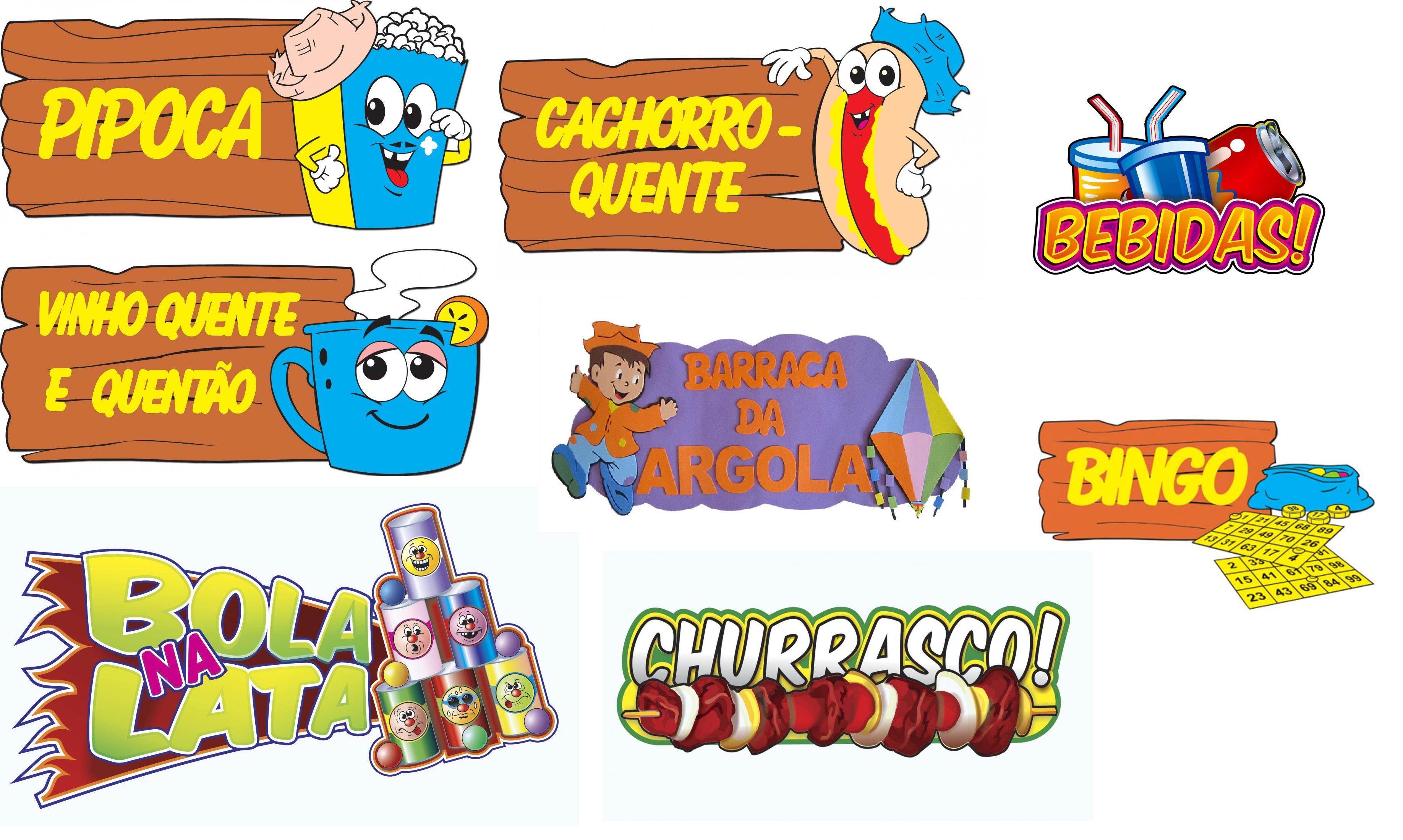 Plaquinhas Festa Junina Indicativas No Elo7 Studio Gabi 708d17
