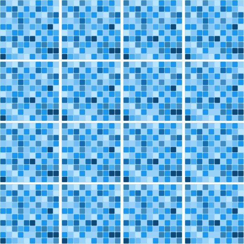 Adesivo de azulejo piscina 20x20 cm qcola elo7 - Azulejos para piscina ...