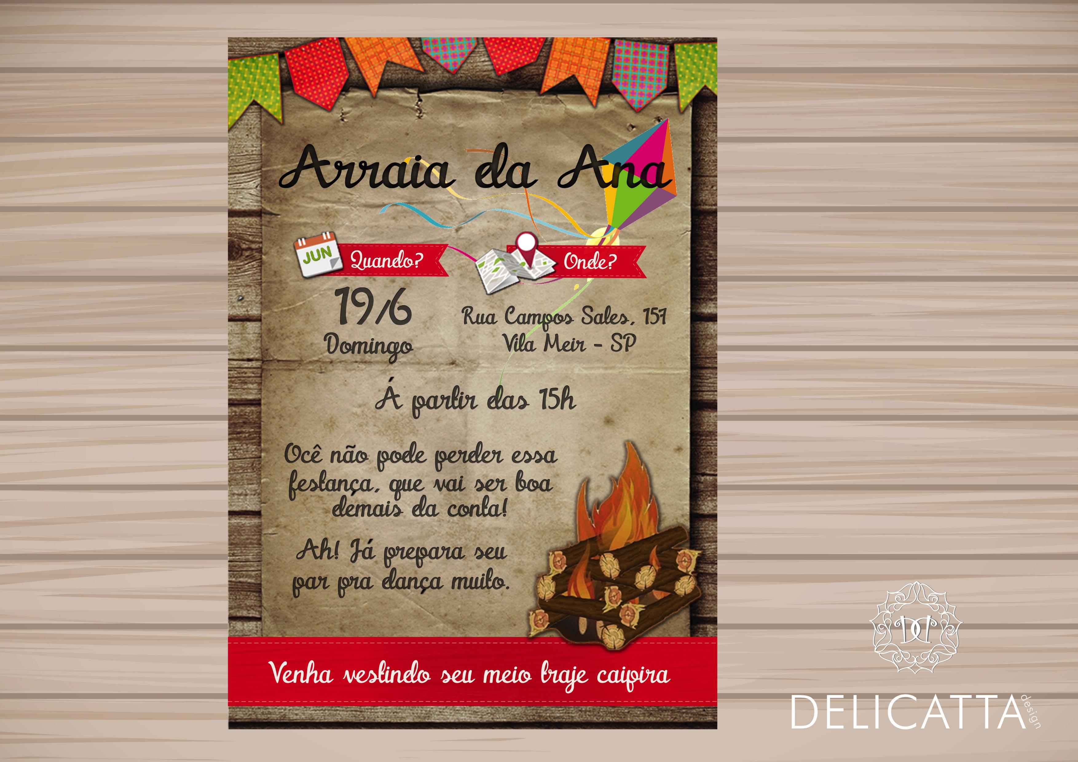Convite Aniversário Festa Junina No Elo7 Delicatta Design 70b362