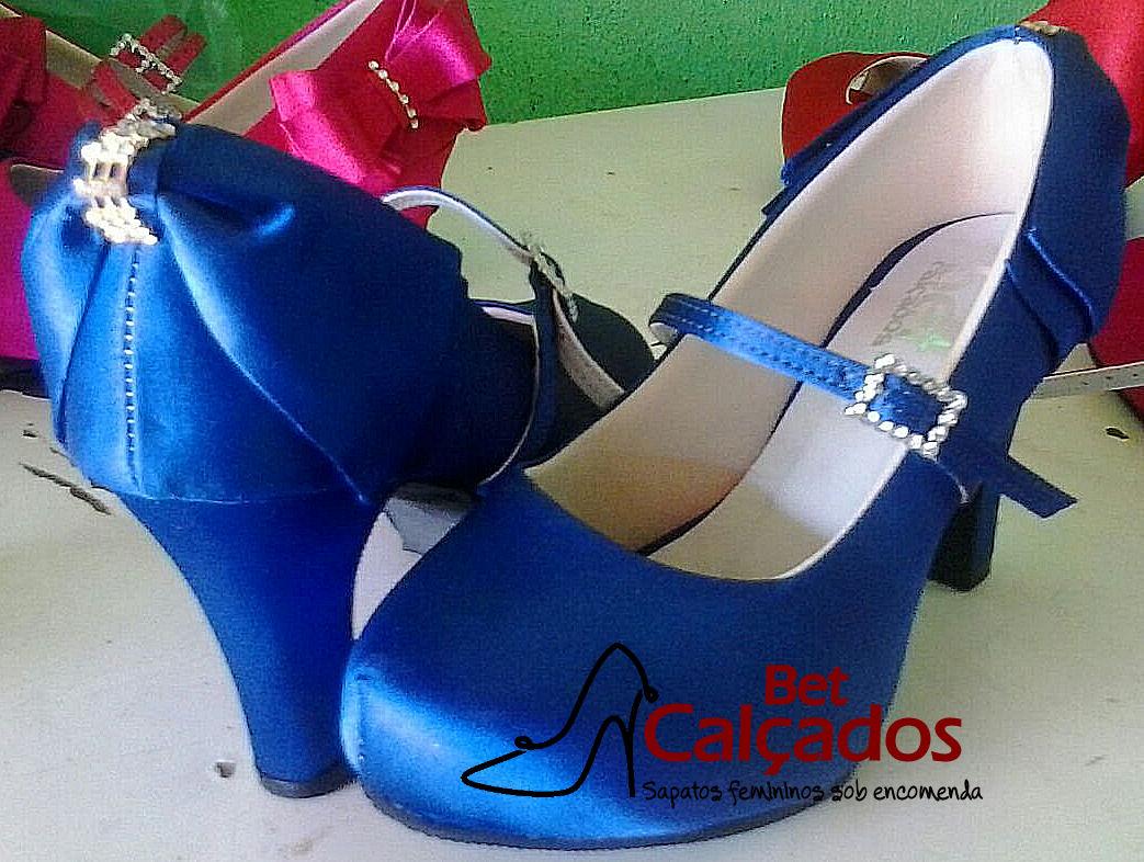 333969c28b Sapato de Salto Azul Royal | Elo7