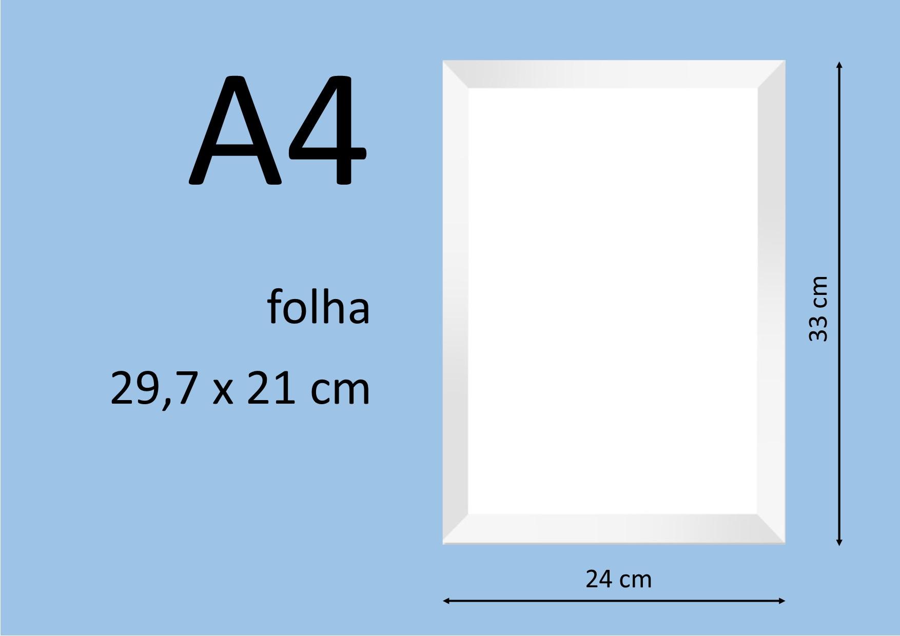 moldura branca tamanho a4 elo7