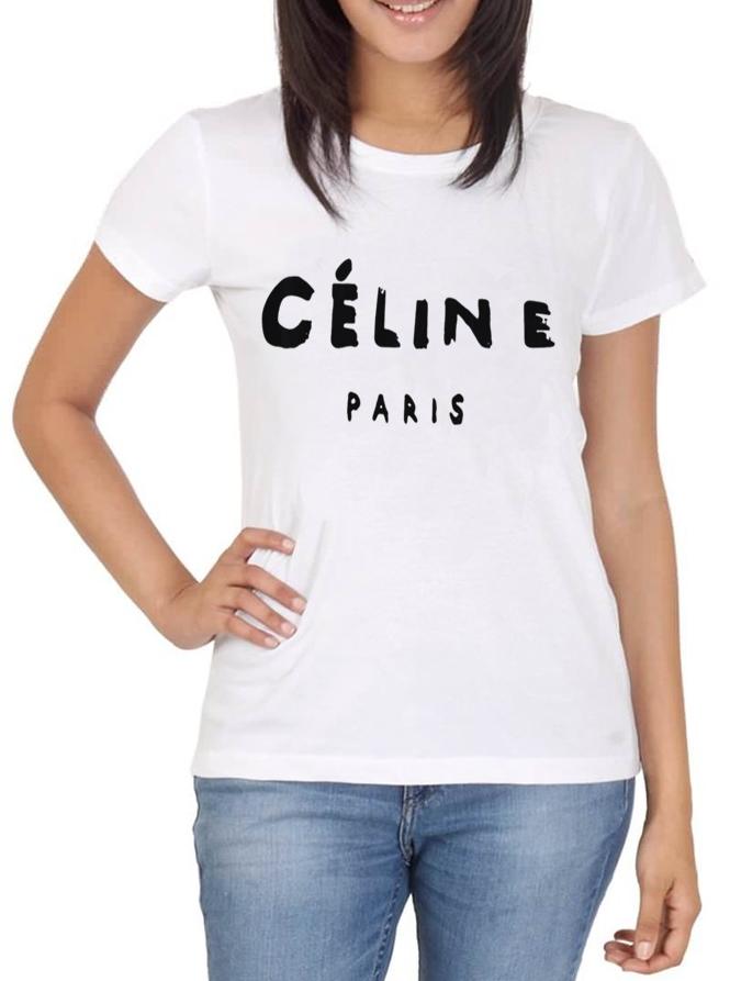 Camiseta Feminina Celine Paris  39409b5add009