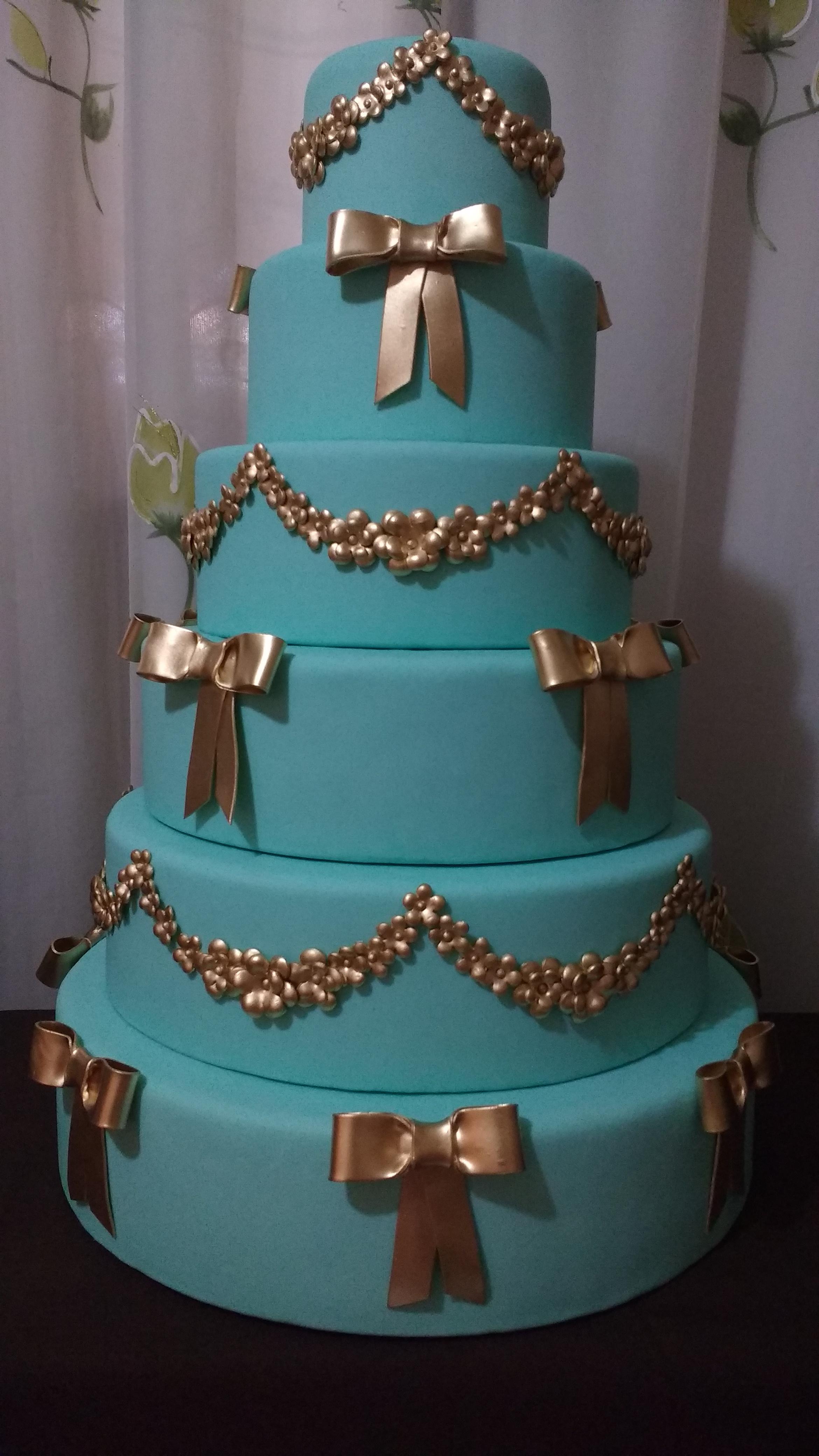 733c147391200 Bolo Azul Tiffany   Elo7