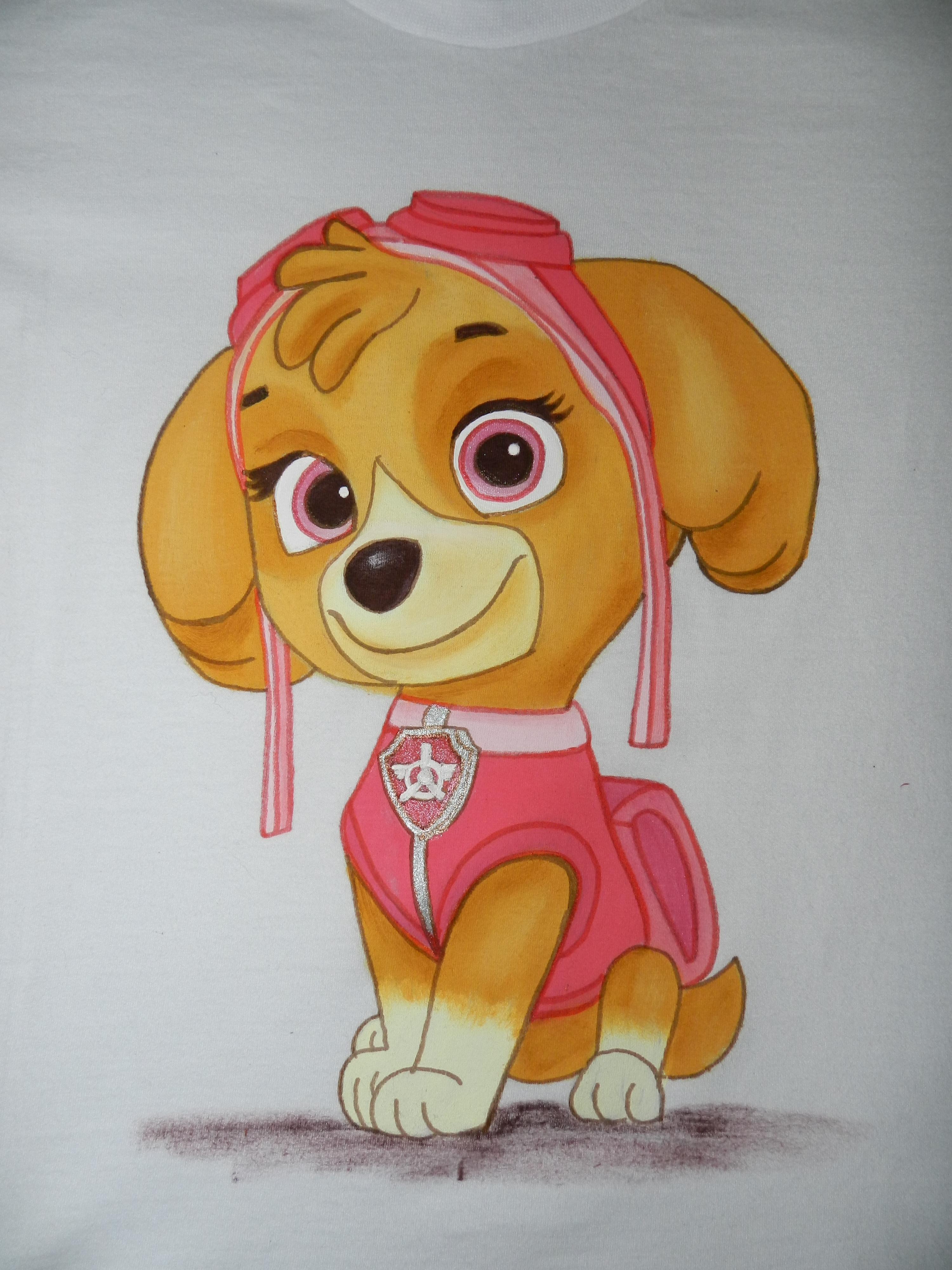 Patrulha Canina Skye Camiseta Pintada A Mao No Elo7 Vovo Habib