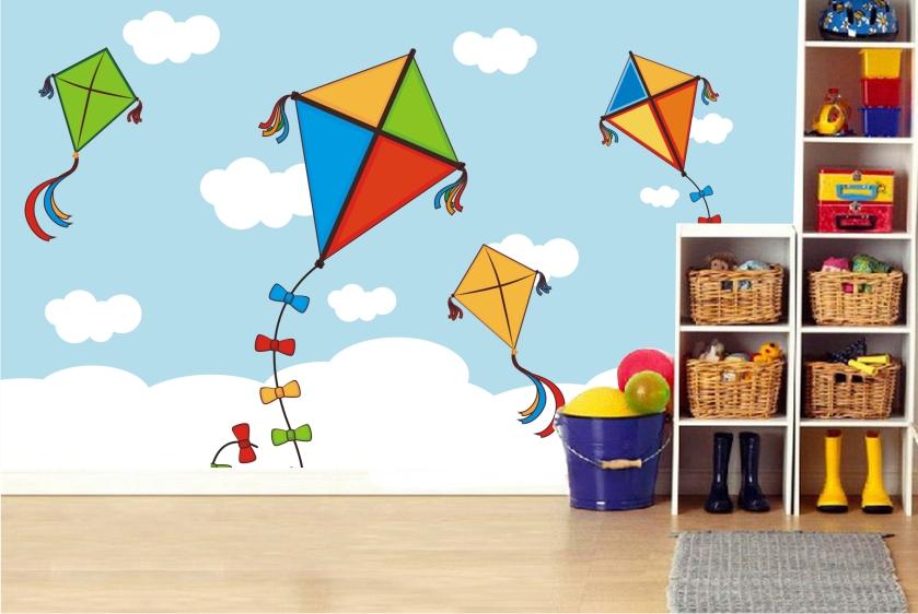 Papel de parede infantil menino pipa 36 - Papel decorativo infantil para paredes ...