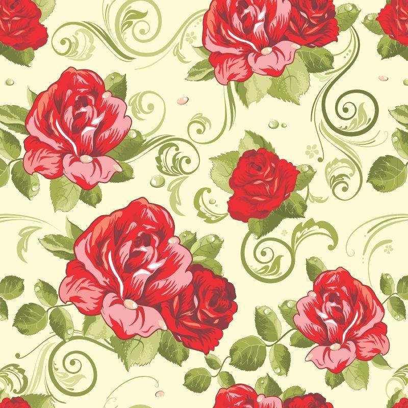 Papel De Parede Floral Rosa 02
