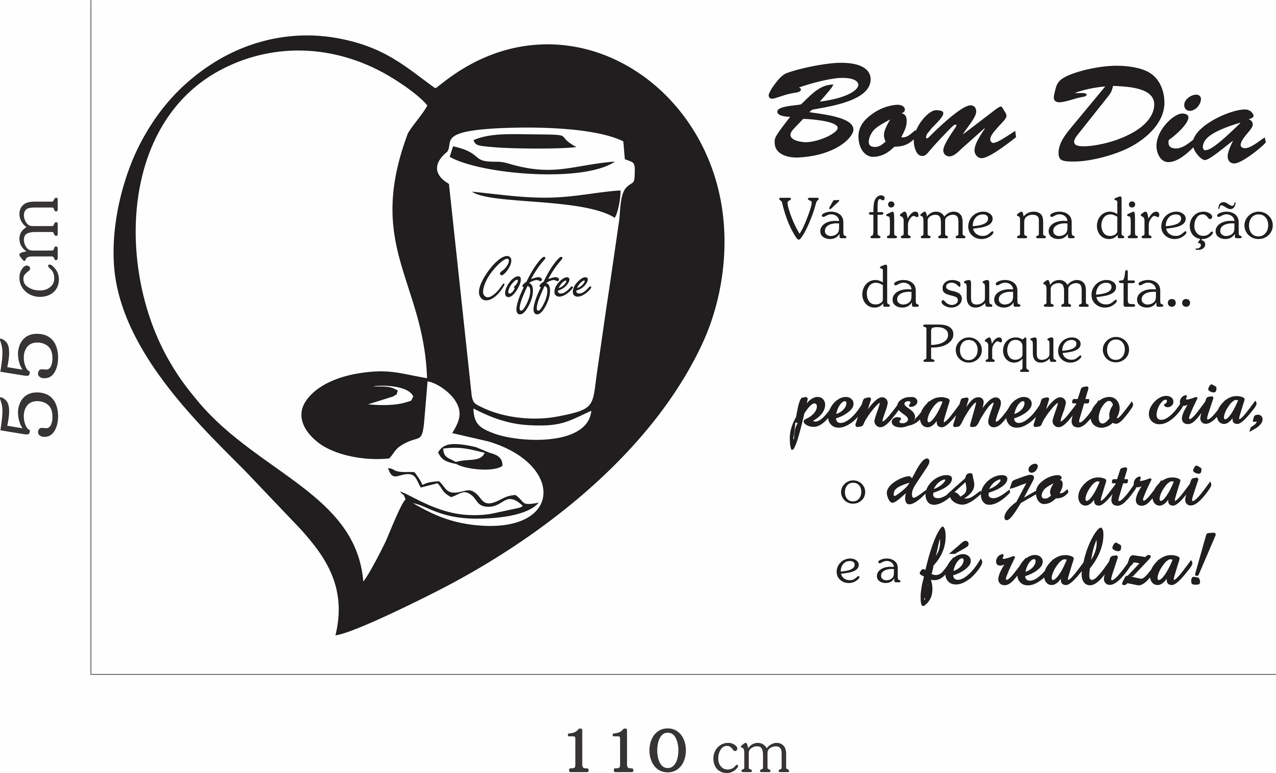 Adesivo Parede Café Frases Bom Dia Coffe No Elo7 Inove Brindes