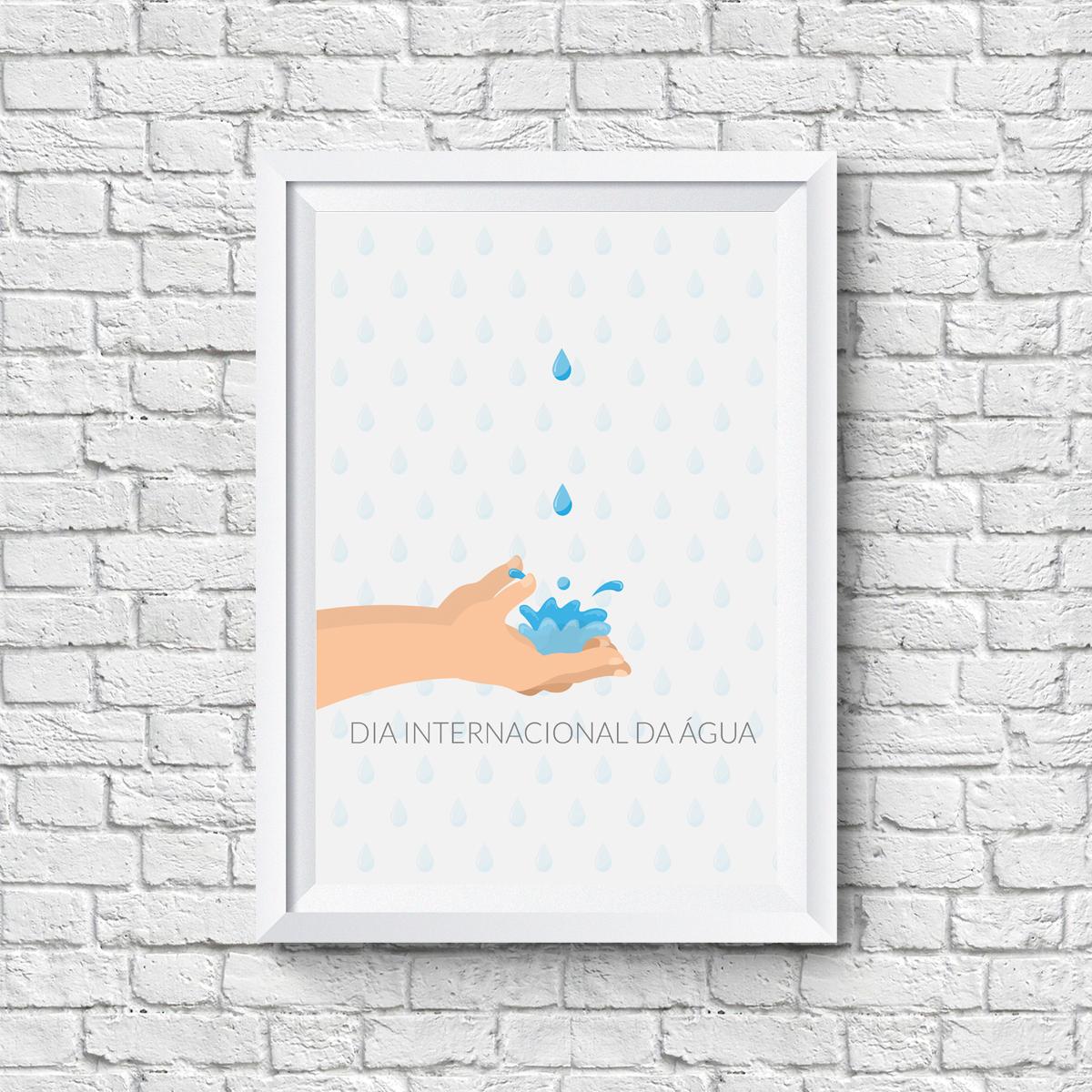 Quadro Do Dia Internacional Da água No Elo7 Quero Quadro 71c982