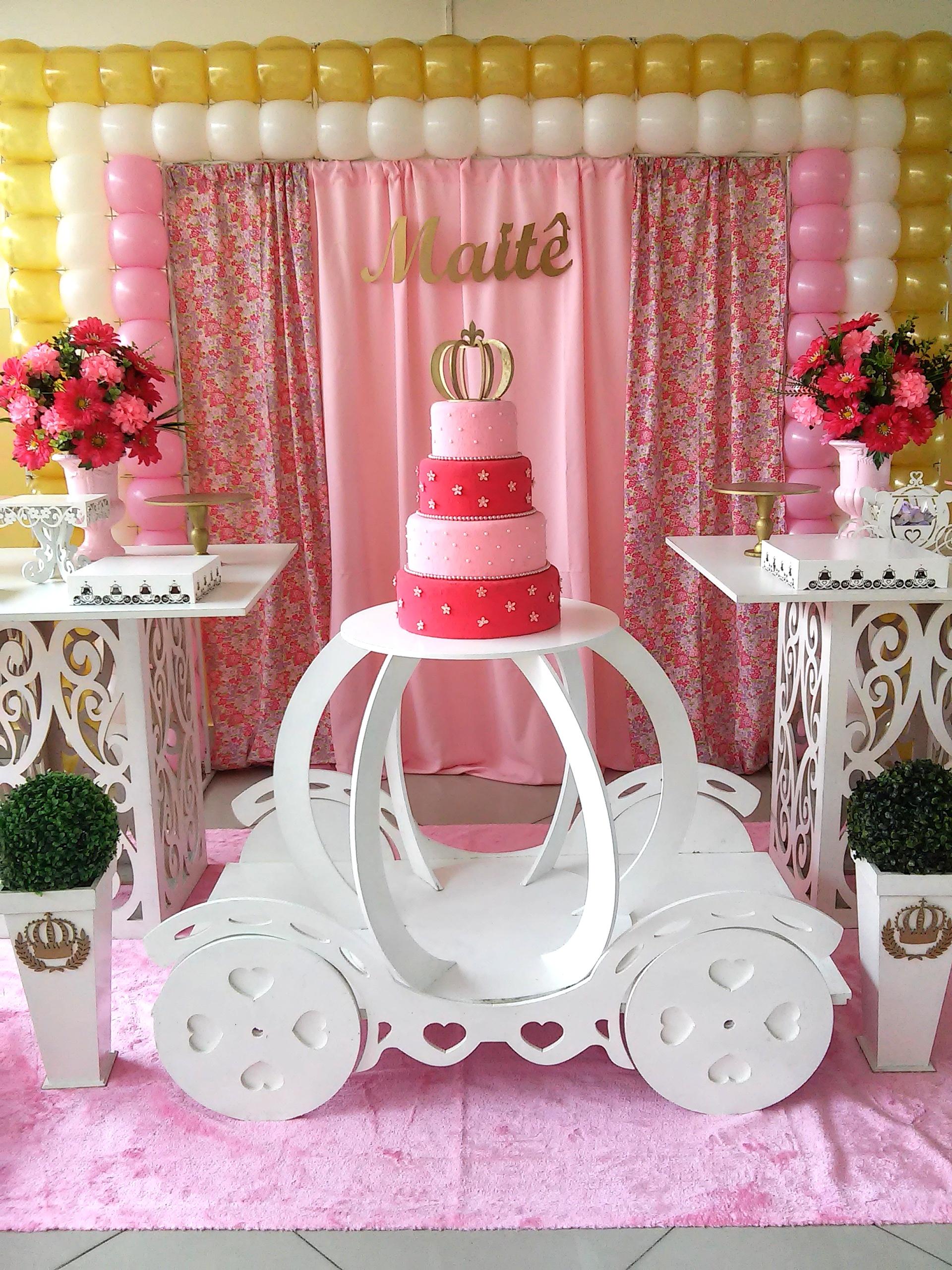 Decoraç u00e3o Festa Realeza Princesa Rede Festas Decorações Elo7 # Decoração De Festa Infantil Realeza Luxo