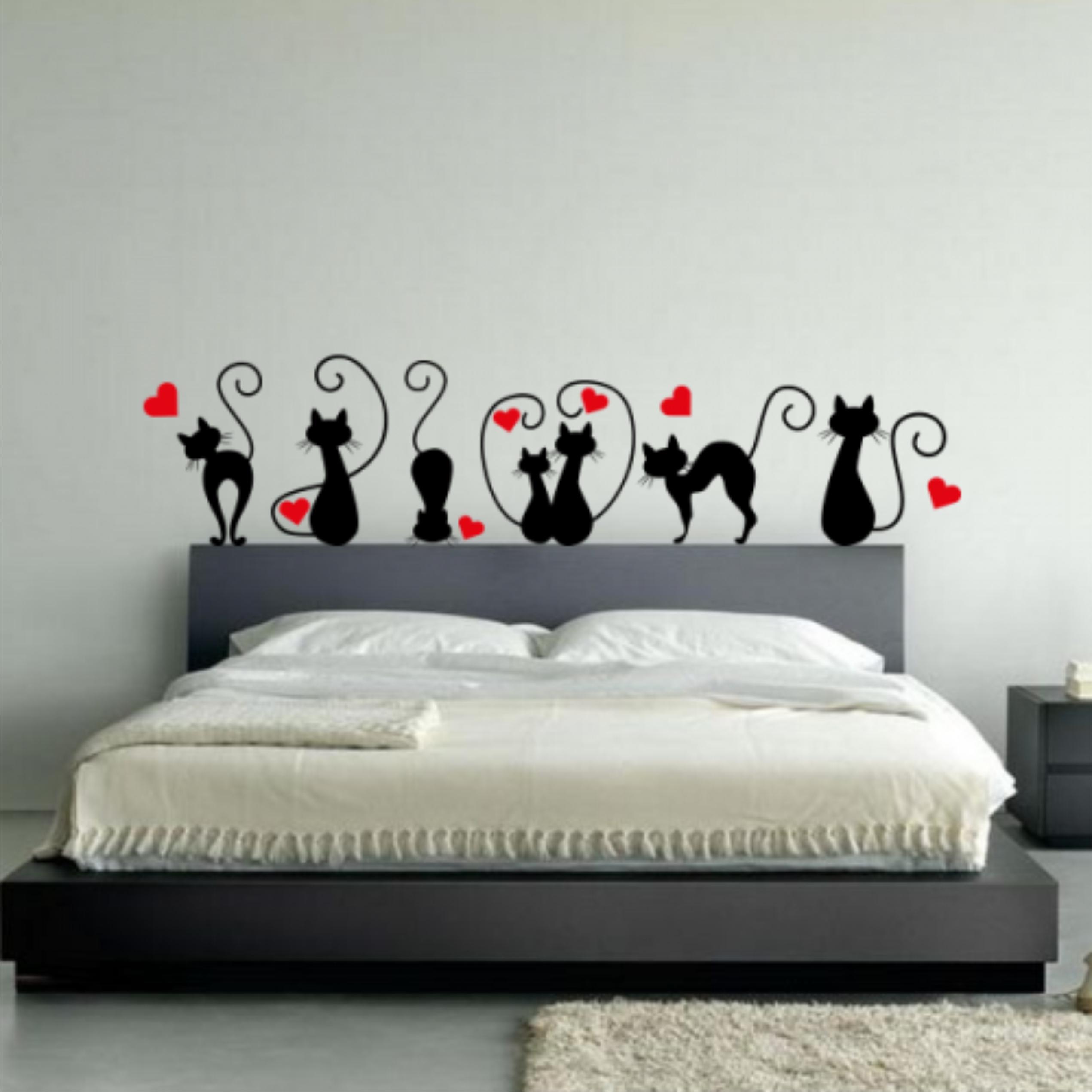Resultado de imagem para decoração cabeceiras de adesivo camas box