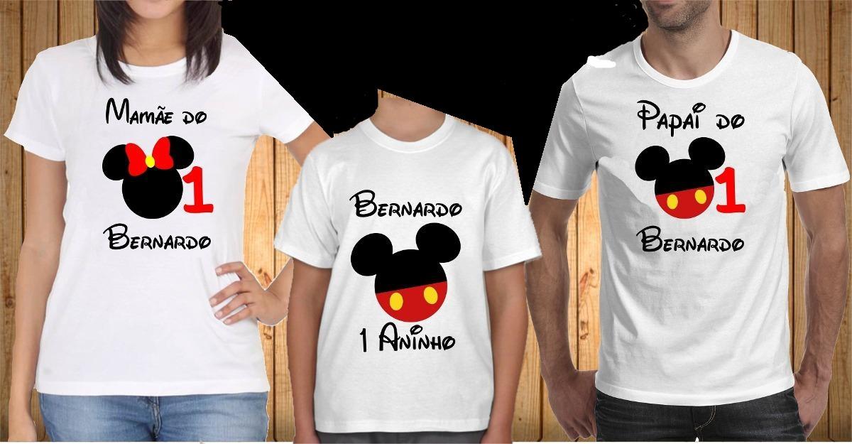 Kit Com 3 Camisetas Aniversario Familia No Elo7 Imagine Estampas