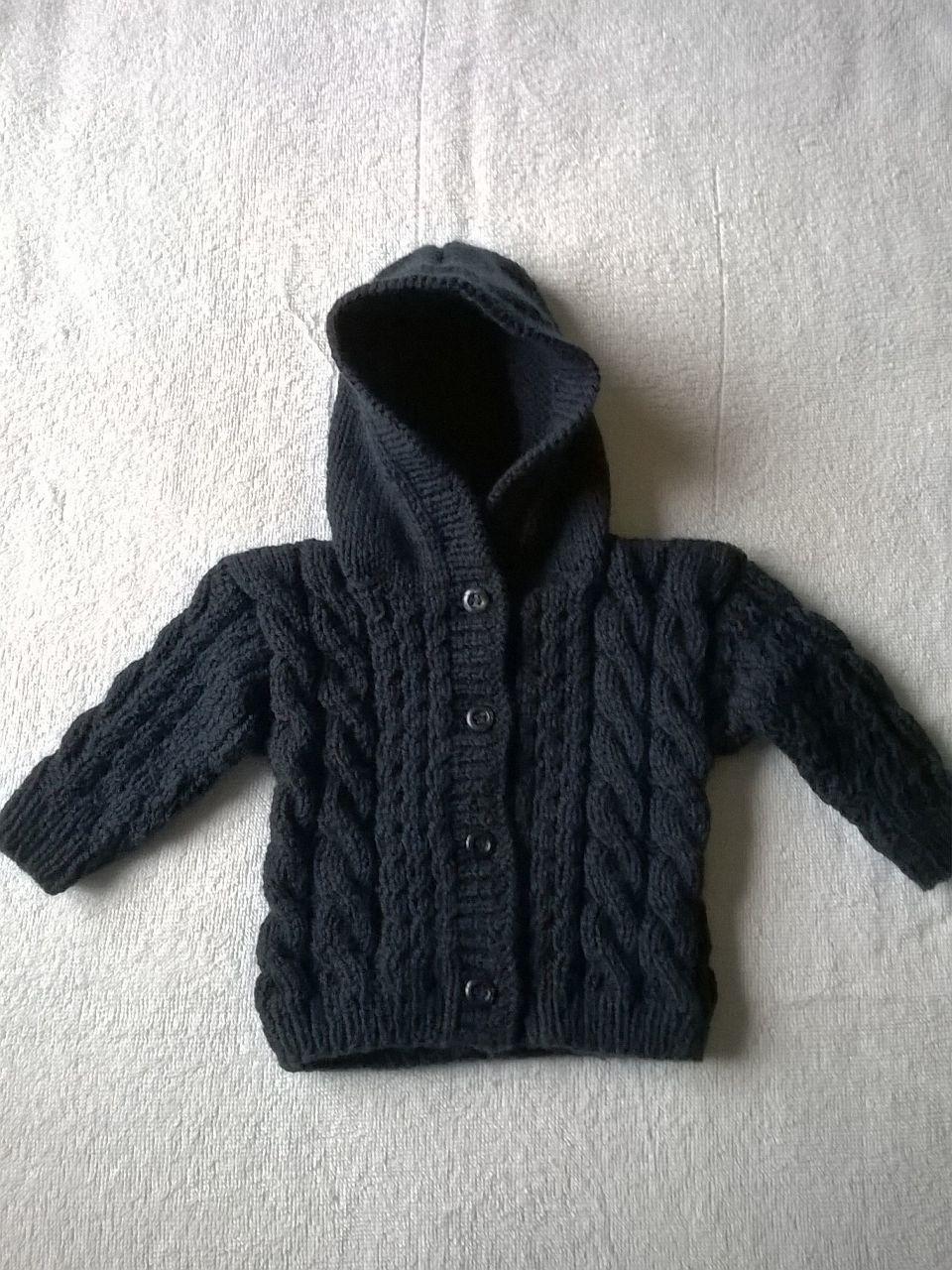 Casaco Infantil com Capuz em tricô no Elo7  6d67e8cdaf6