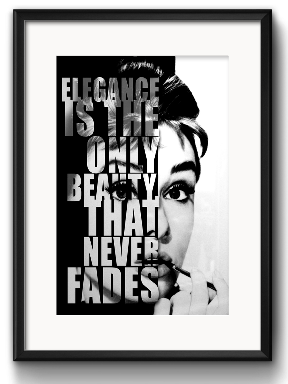 Quadro Audrey Hepburn Frase Com Paspatur No Elo7 Red Rose Shop
