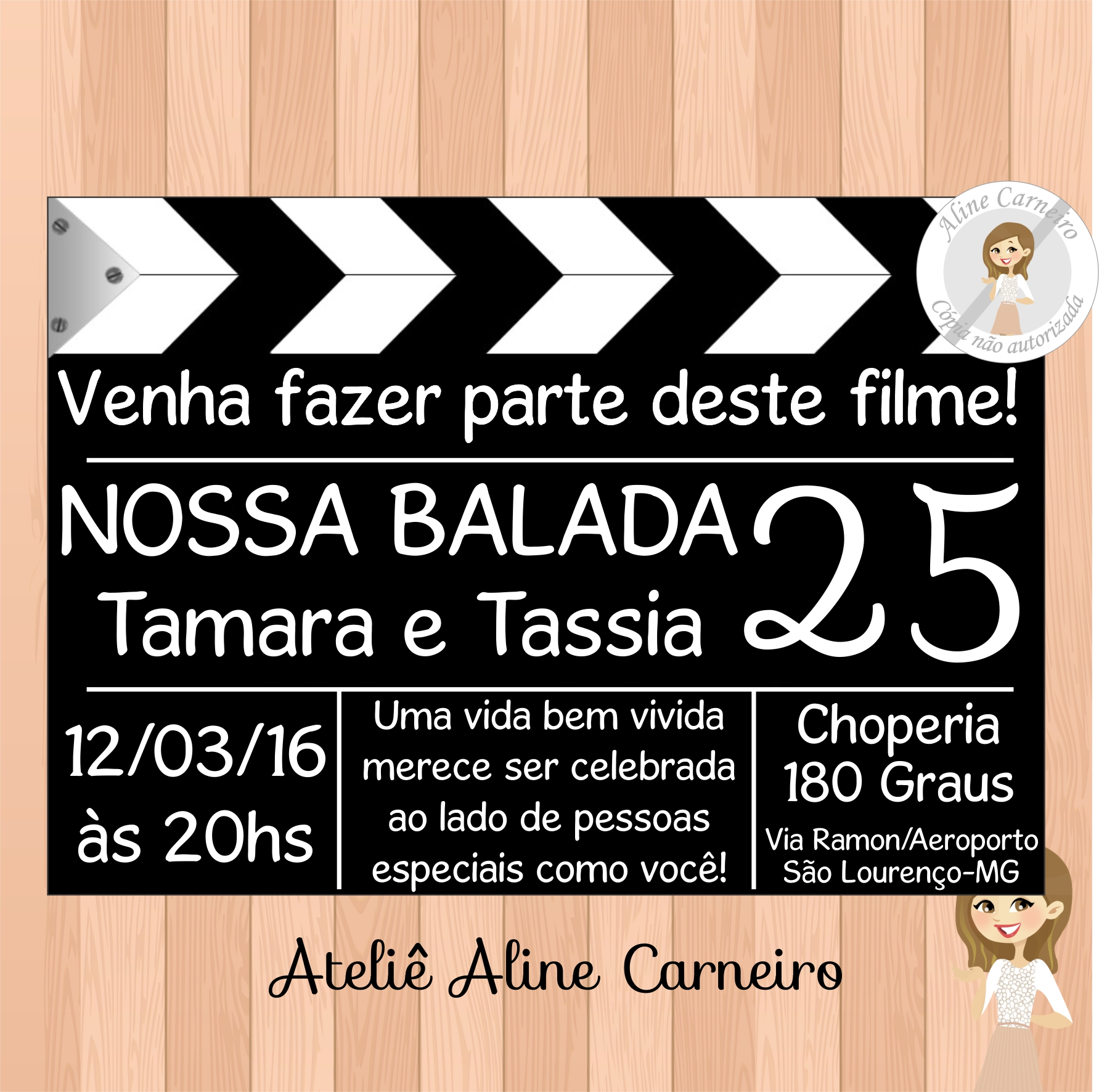 Convite Aniversário Adulto No Elo7 Ateliê Aline Carneiro 448c18