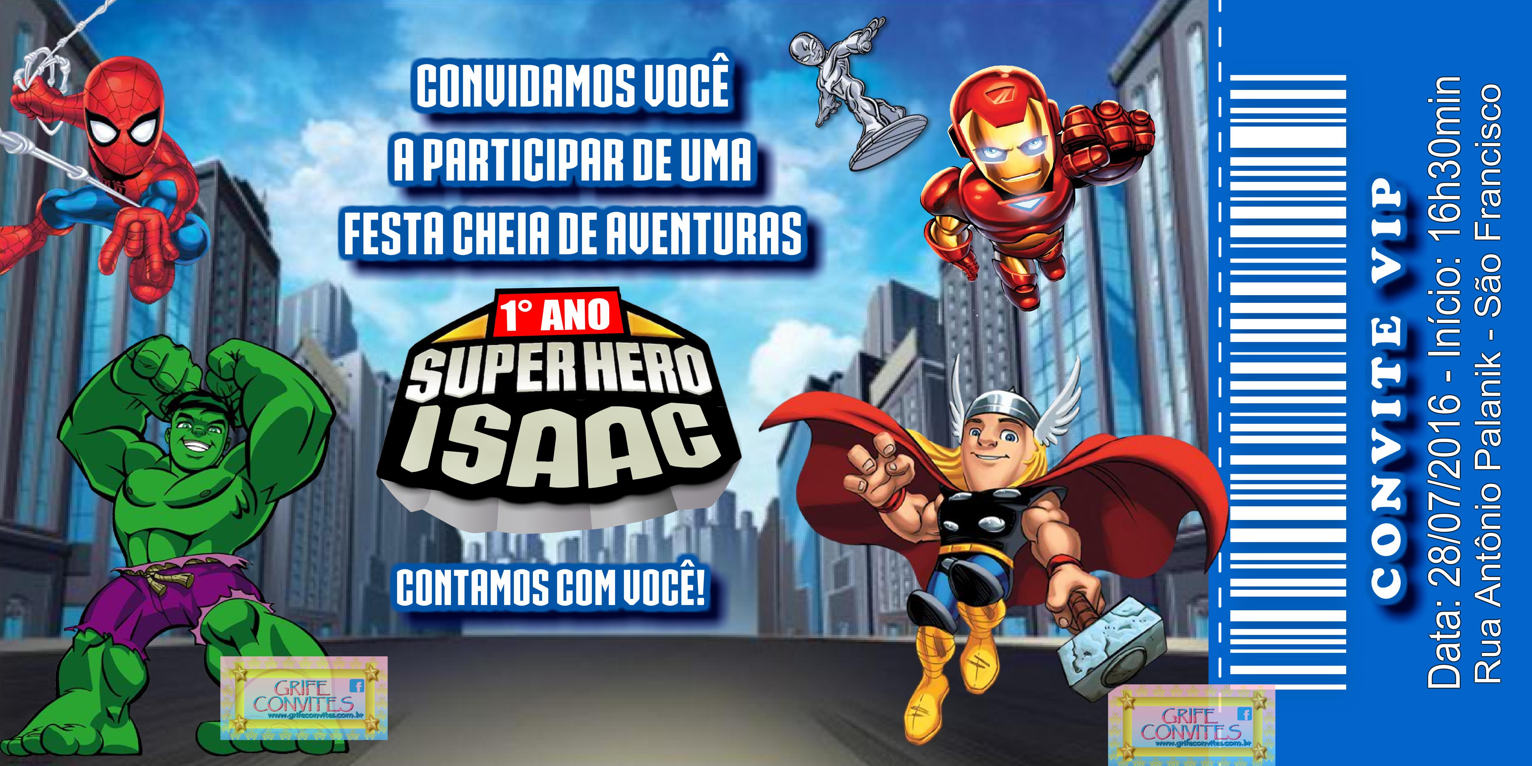Arte Convite Super Hero Squad No Elo7 Grife Convites 72a79b