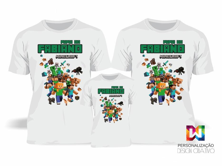 Camisa Familia Minecraft  ee07b8cee646d