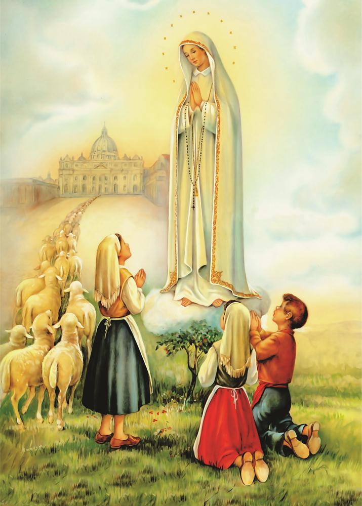 caa3c9029 Pôster Nossa Senhora de Fátima - Visão no Elo7