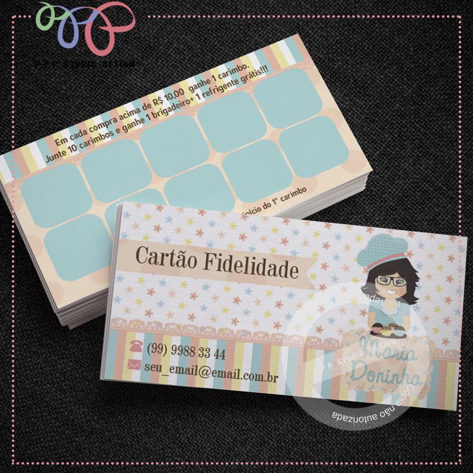 Well-known Cartão Fidelidade - Doceira 6 no Elo7   PPP Studio Design (7327FF) MO69