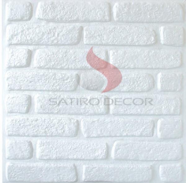 Revestimento 3d tijolinho parede e teto anna decor elo7 for Placas de pvc para paredes