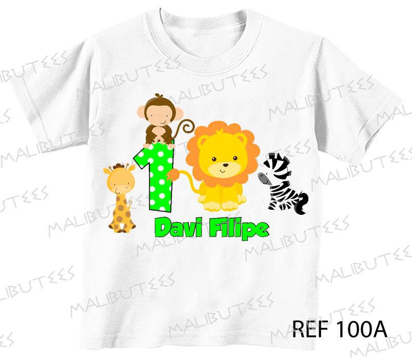 c73a6e6666 Camiseta Safari Leão Selva Aniversario no Elo7