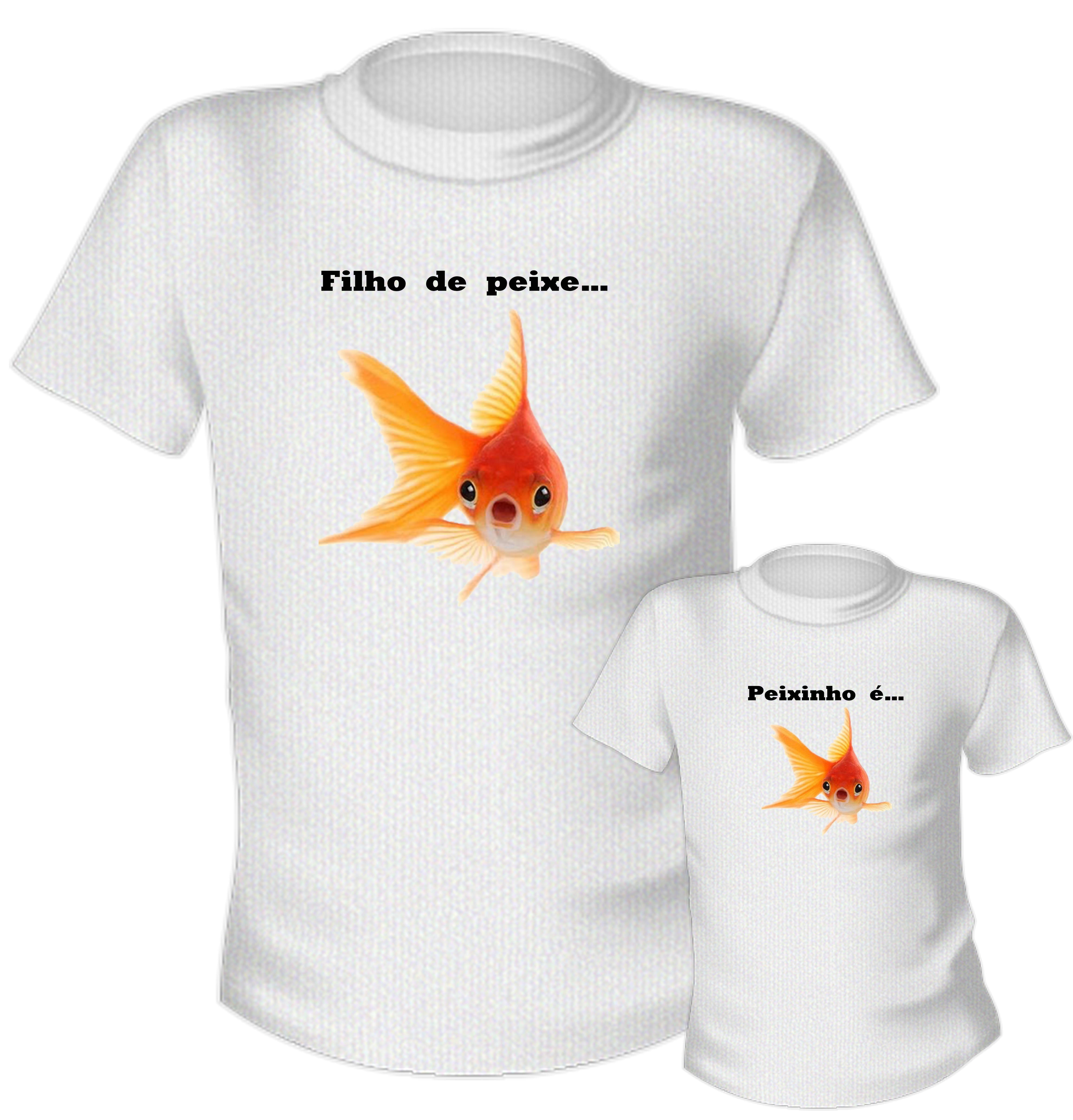 e81409ef7d Kit Camiseta Filho de Peixe Peixinho e Tal Pai Tal Filho
