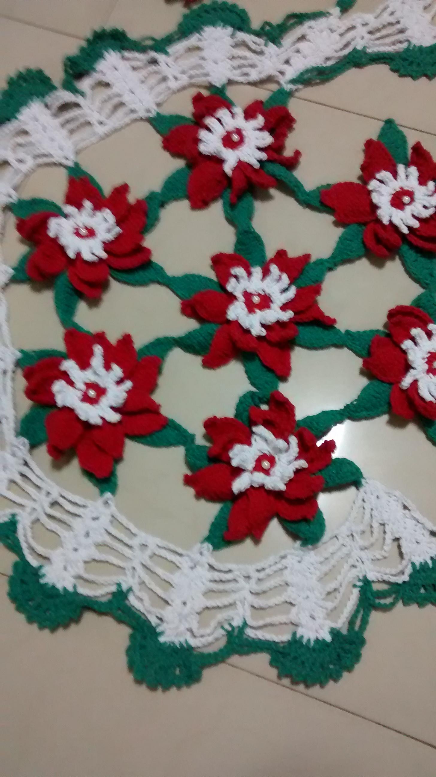 Tapete espiral floral de croch lurdes artesanato elo7 for Tapete floral