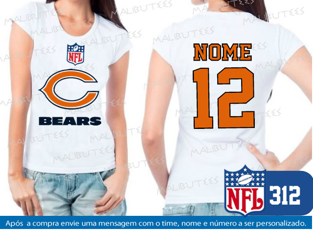 c24de172a0f6f Camiseta Chicago Bears NFL Futebol no Elo7