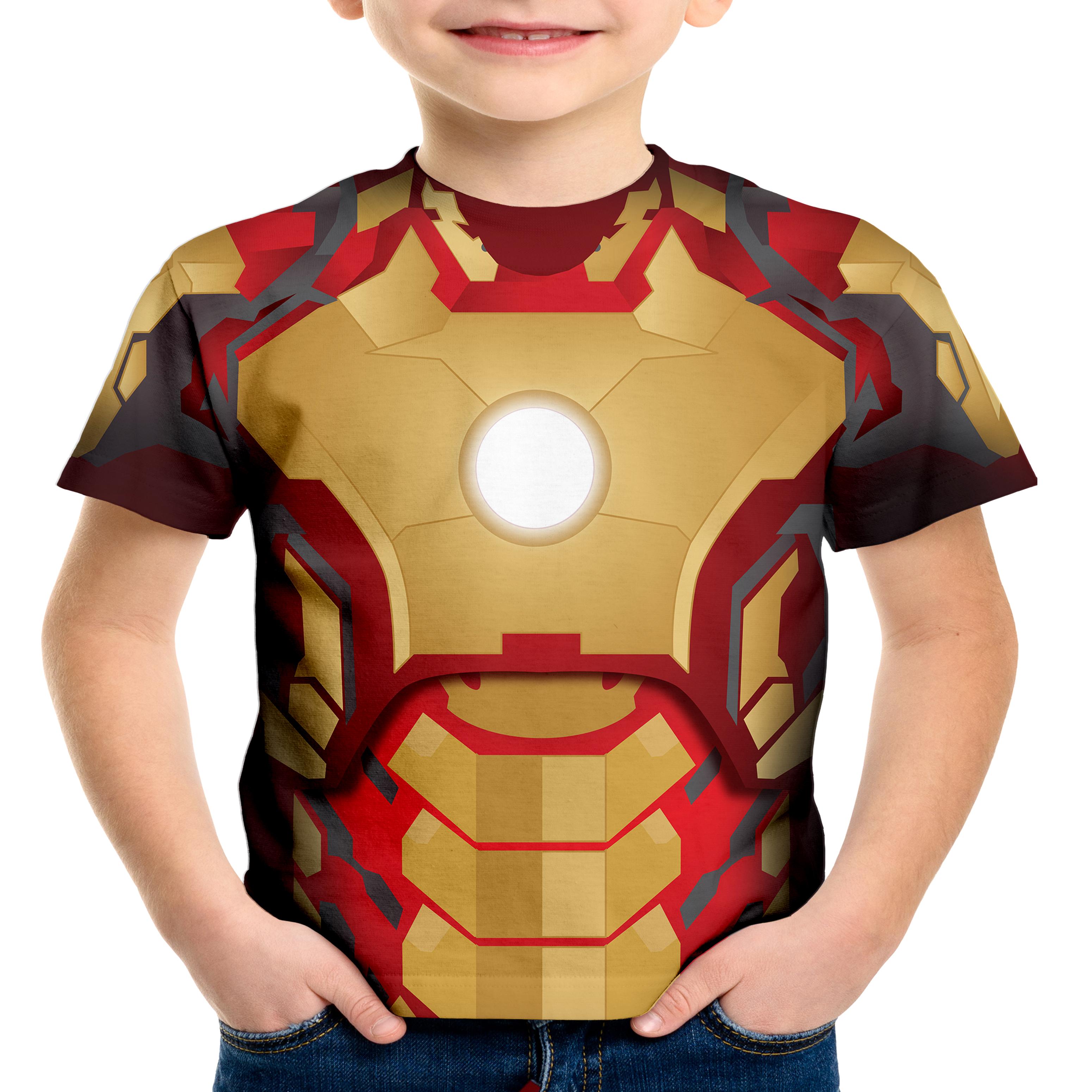b04e104726 Camiseta Infantil Blusa Crianca Homem Ferro Iron Man Marvel | Elo7