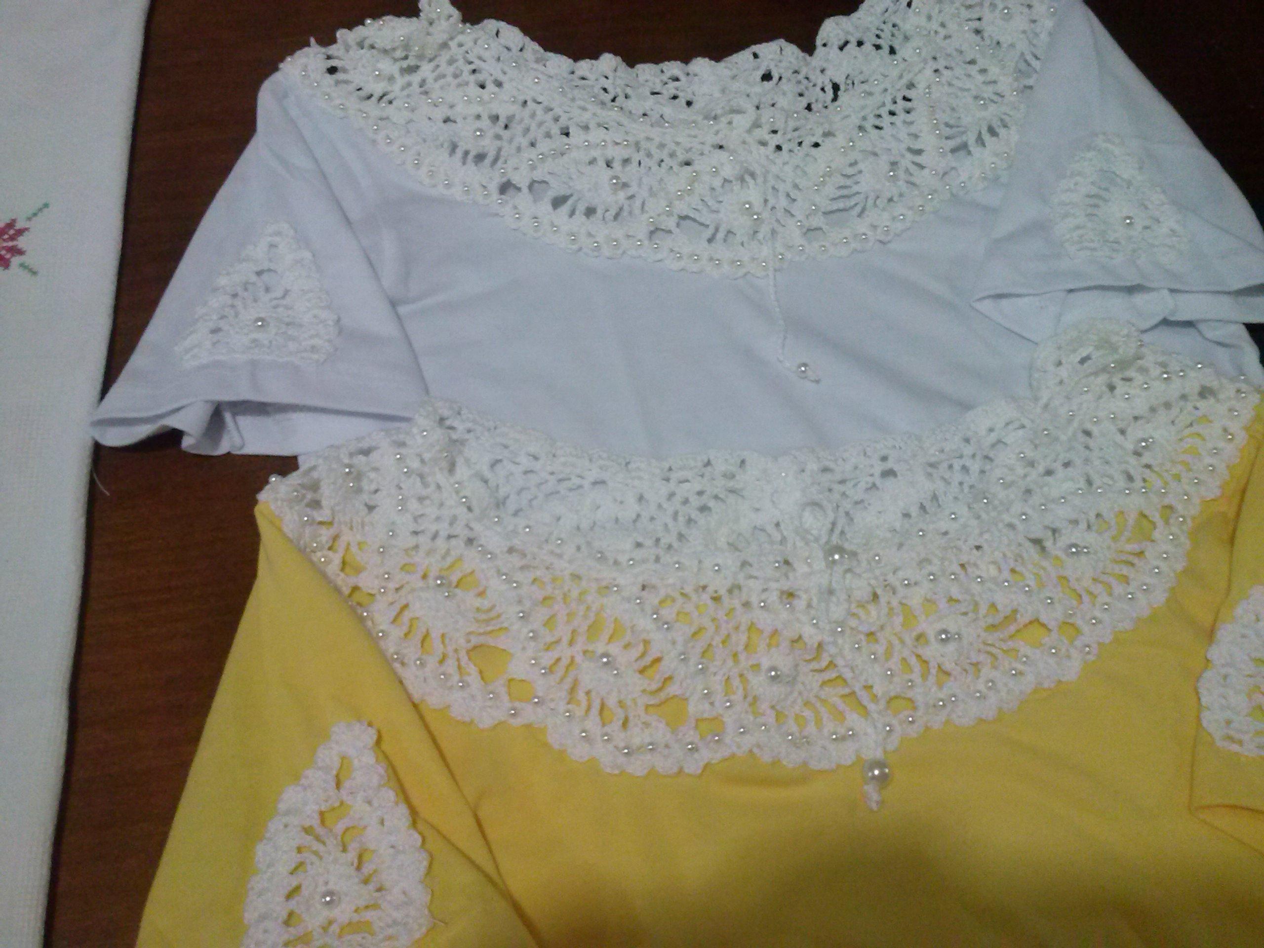 8d6203a2f Camiseta Customizada com Croche