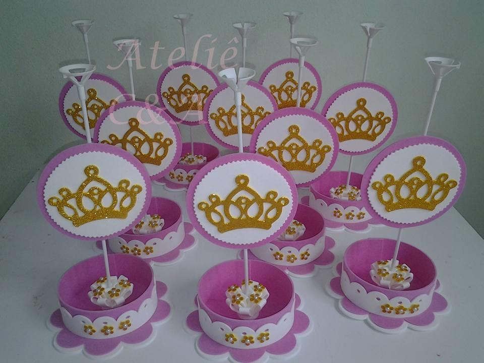 Favoritos Centro de Mesa Coroa de Princesa | Elo7 II95