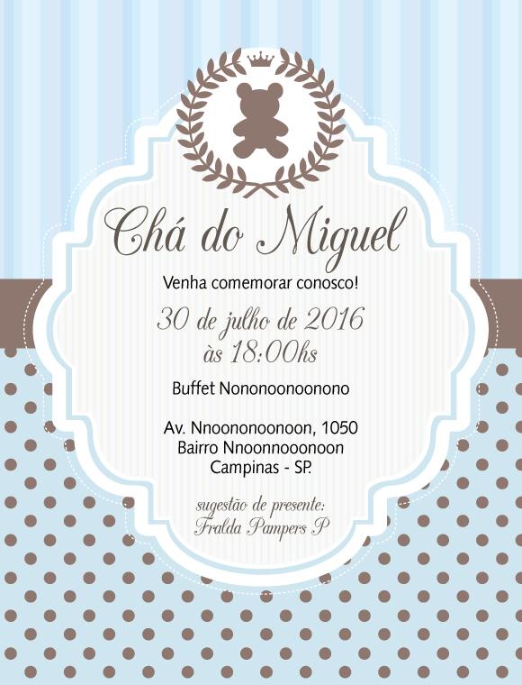 Convite Zap Virtual Realeza Urso Principe No Elo7 Comprafesta