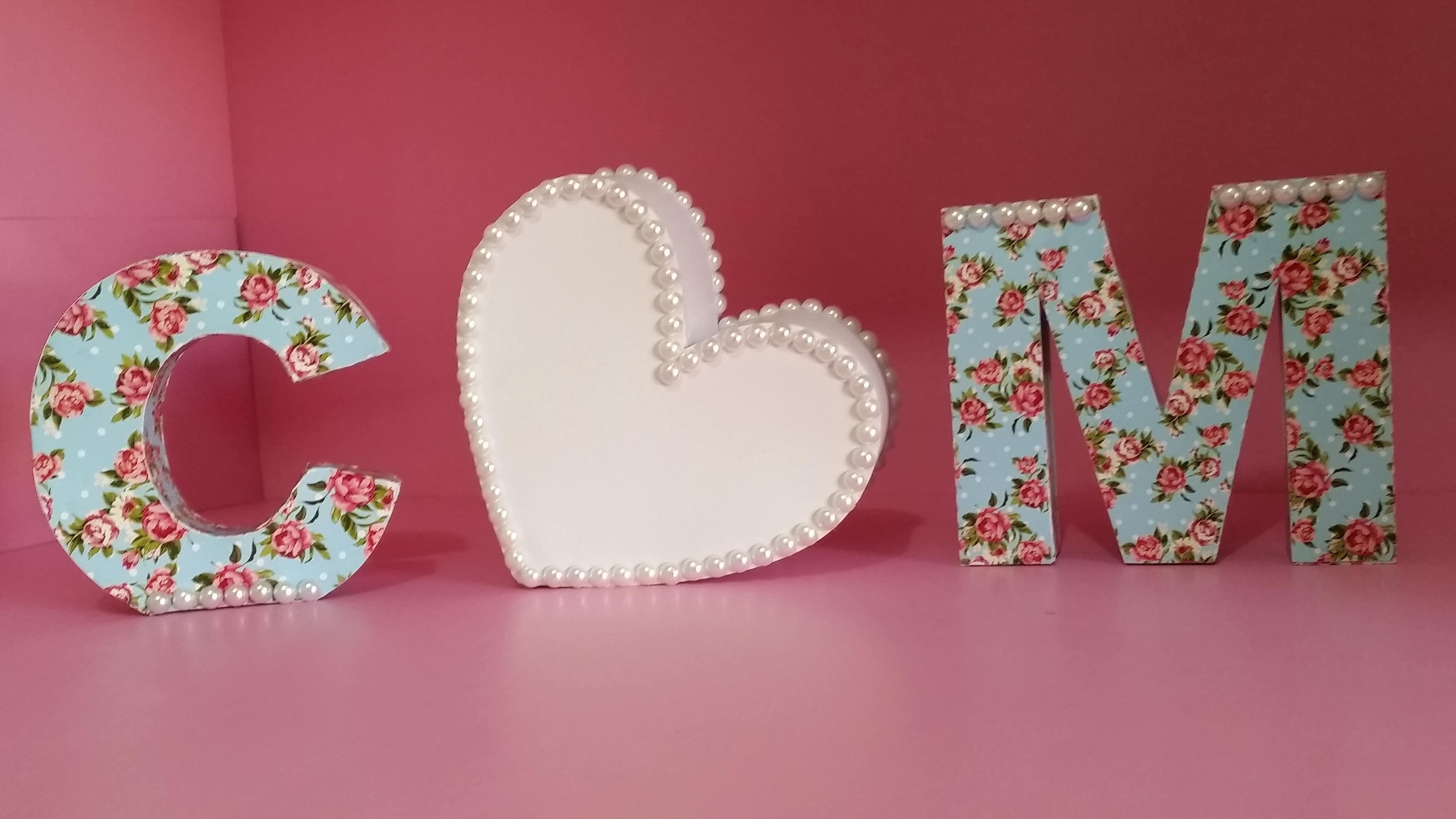 letras decorativas mimos da beltrame elo7 - Letras Decorativas