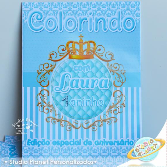 revista de colorir coroa princesa no elo7 studio planet festas