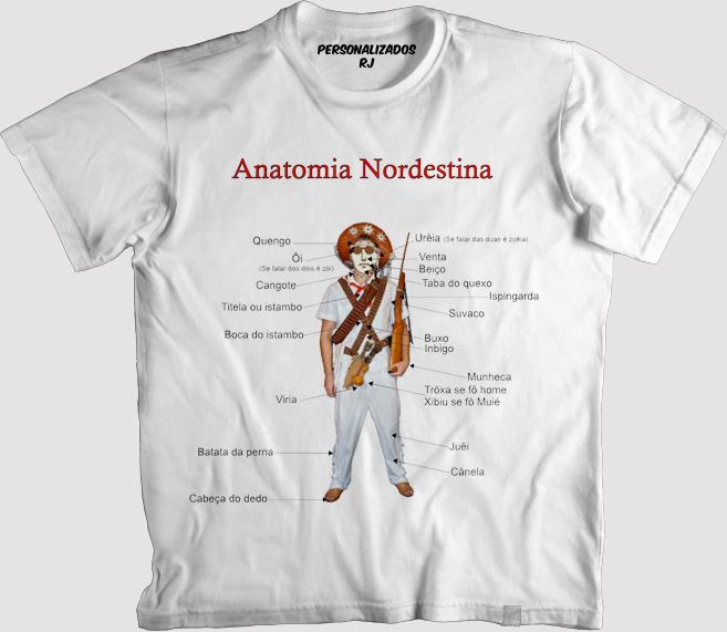 Camisa Anatomia Nordestina | Elo7