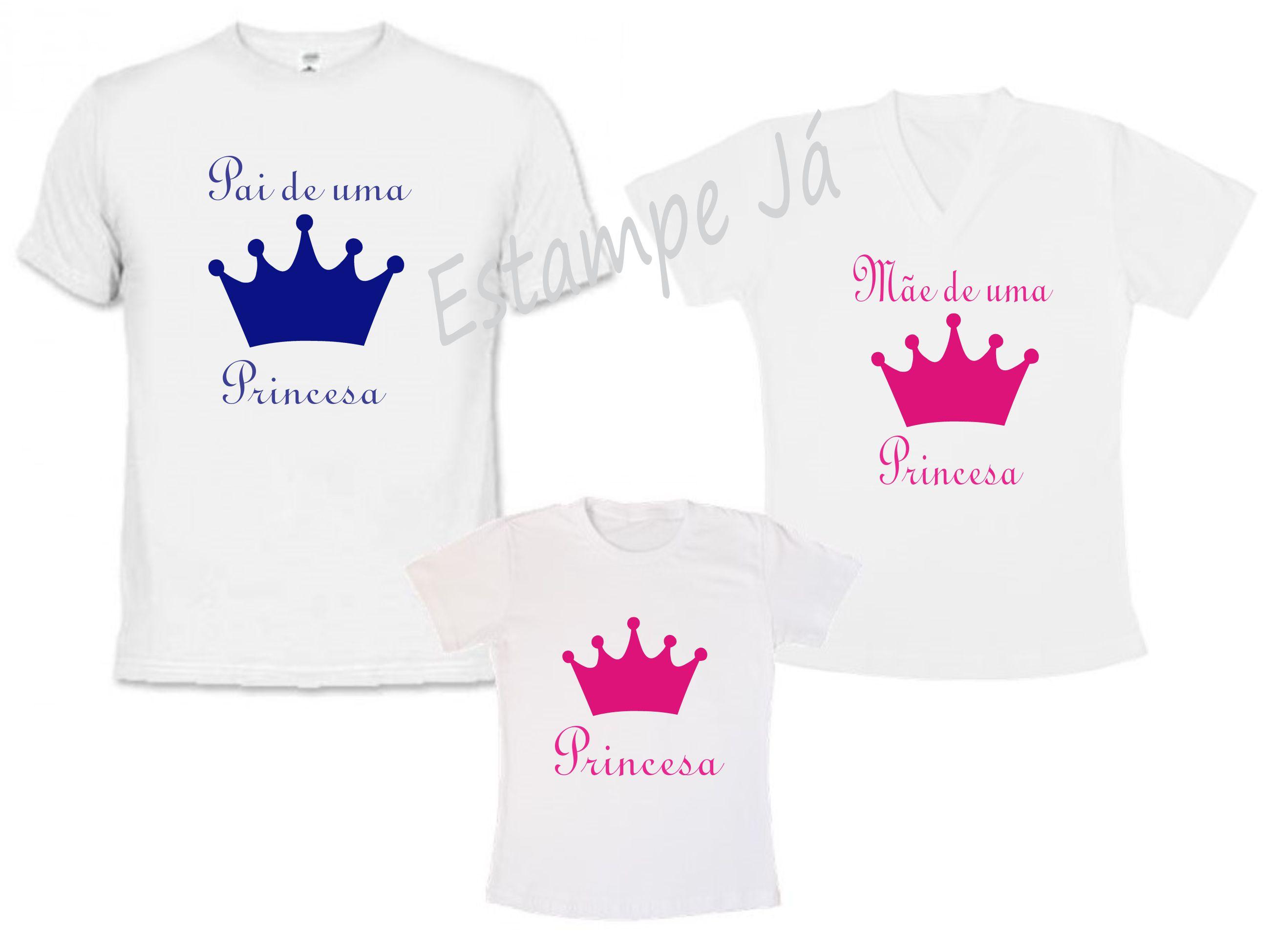 50175c0ca Camisetas Personalizadas de Príncipe Camiseta de Princesa no Elo7 ...